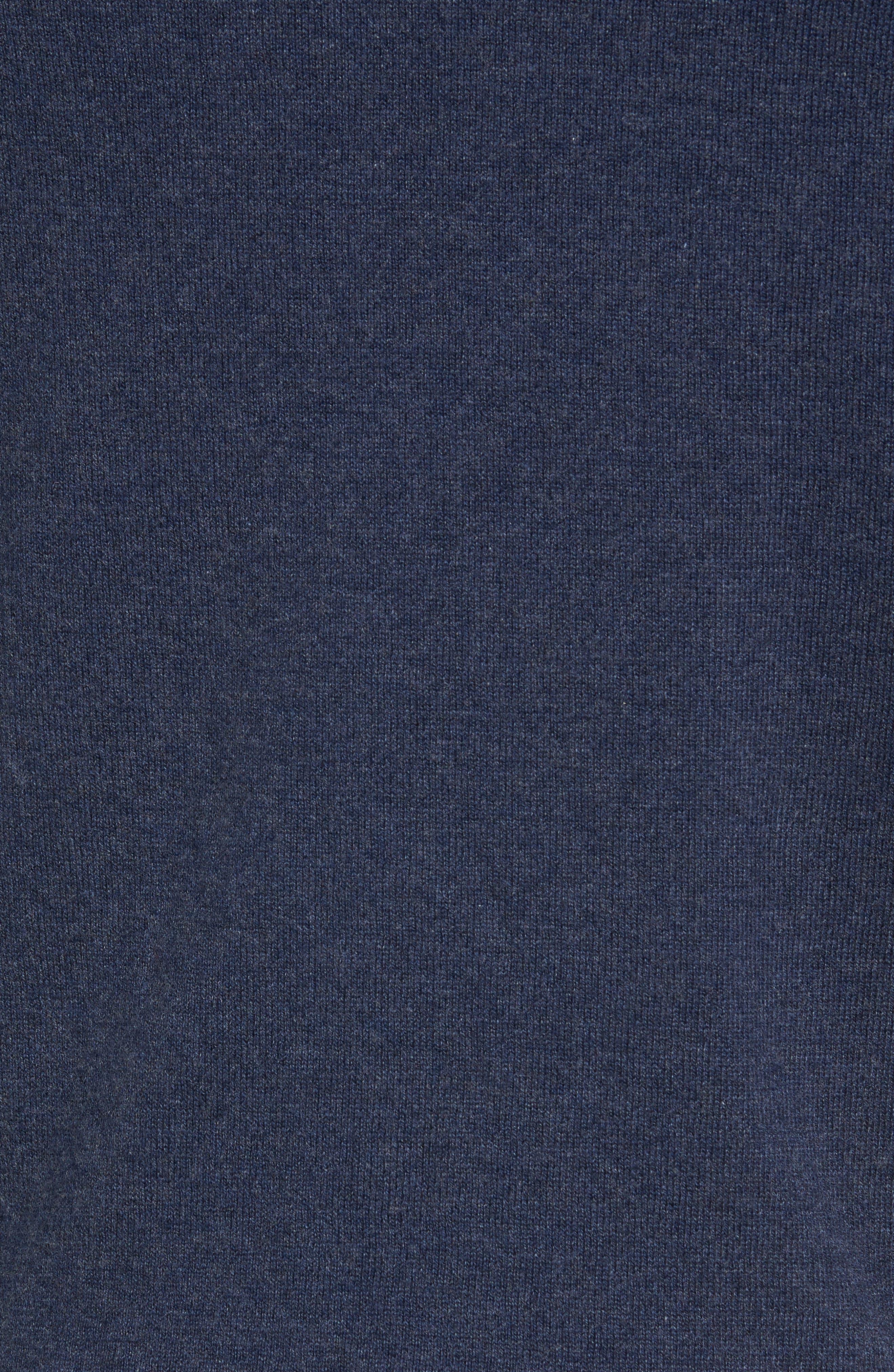 Alternate Image 5  - Nordstrom Men's Shop Cotton & Cashmere Shawl Collar Sweater (Regular & Tall)