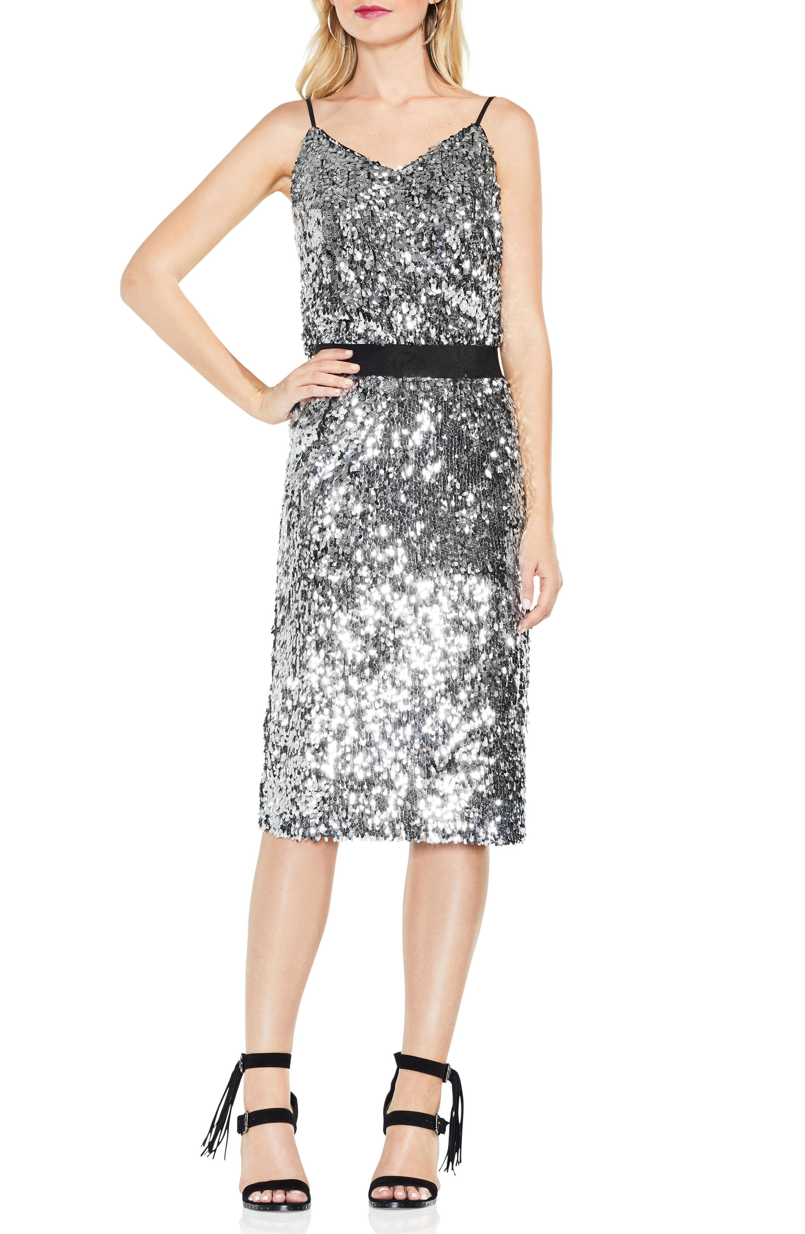 Alternate Image 3  - Vince Camuto Allover Sequin Pencil Skirt