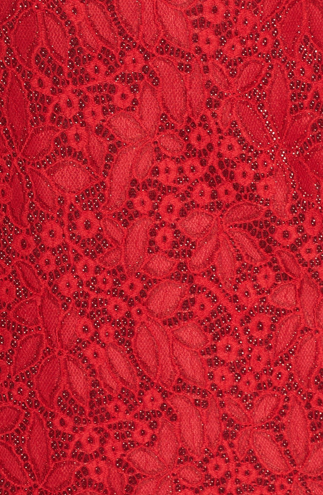 Alternate Image 5  - Tahari Shimmer Lace Sheath Dress (Plus Size)