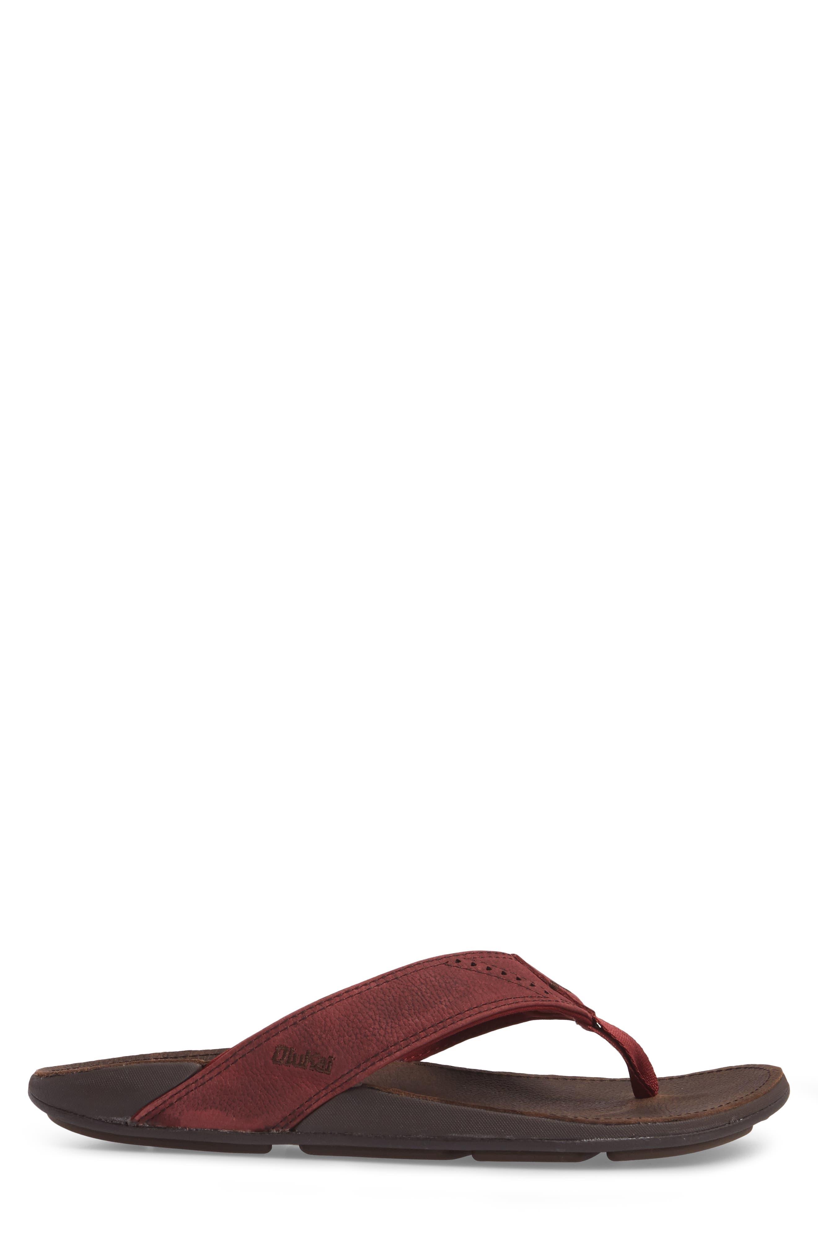Alternate Image 3  - OluKai 'Nui' Leather Flip Flop (Men)