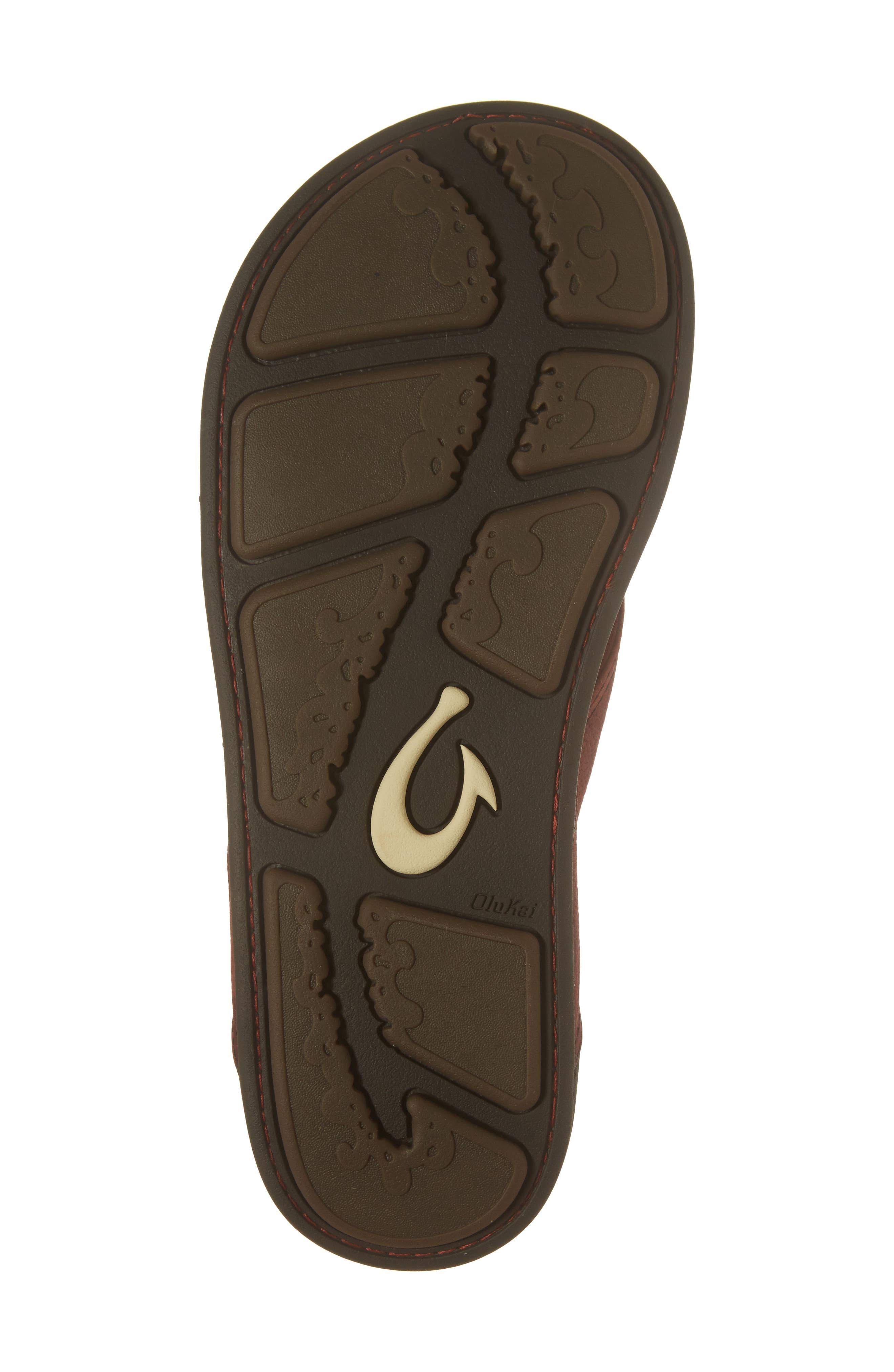Alternate Image 6  - OluKai 'Nui' Leather Flip Flop (Men)