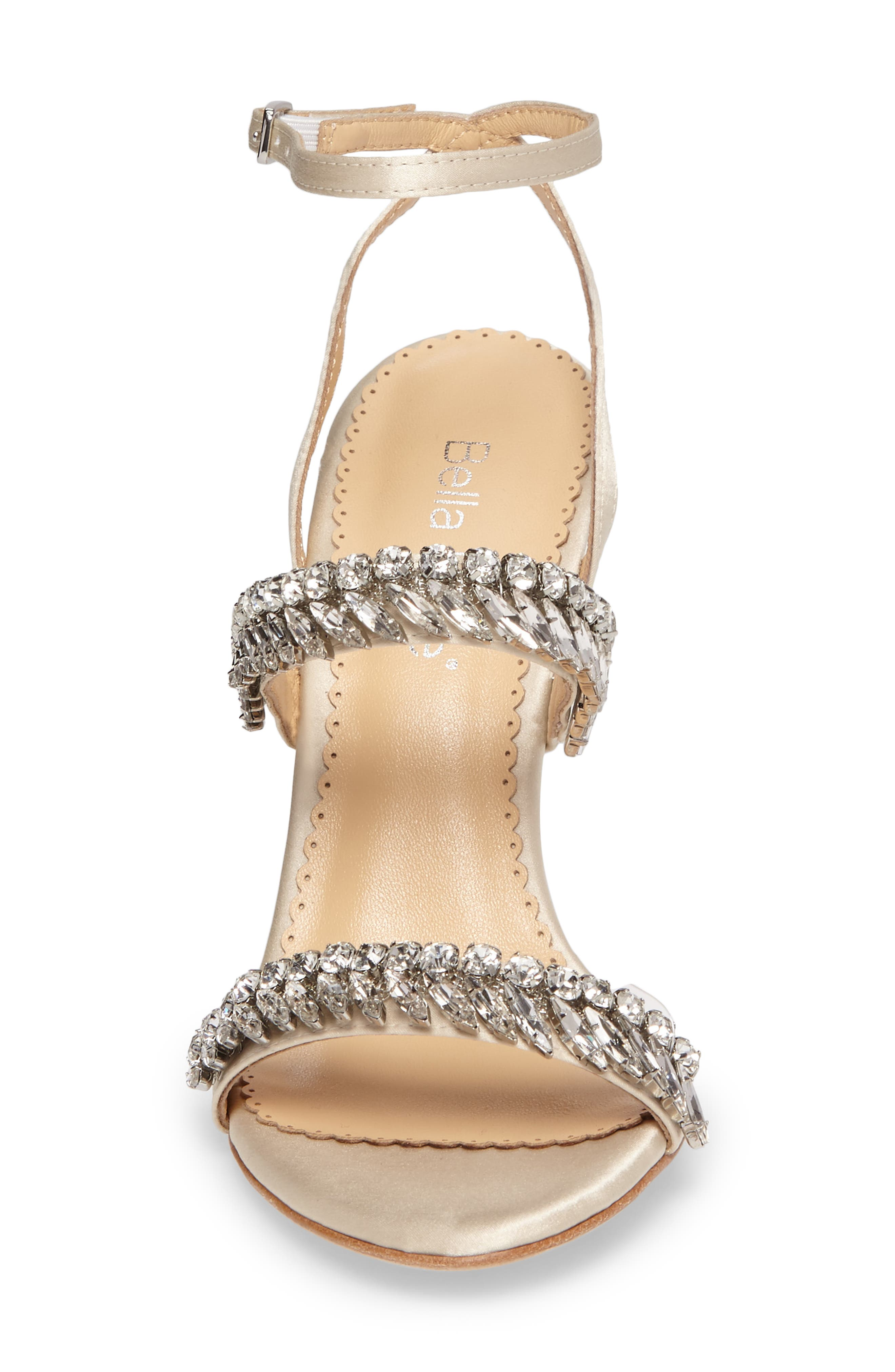 Belinda Embellished Sandal,                             Alternate thumbnail 4, color,                             Champagne