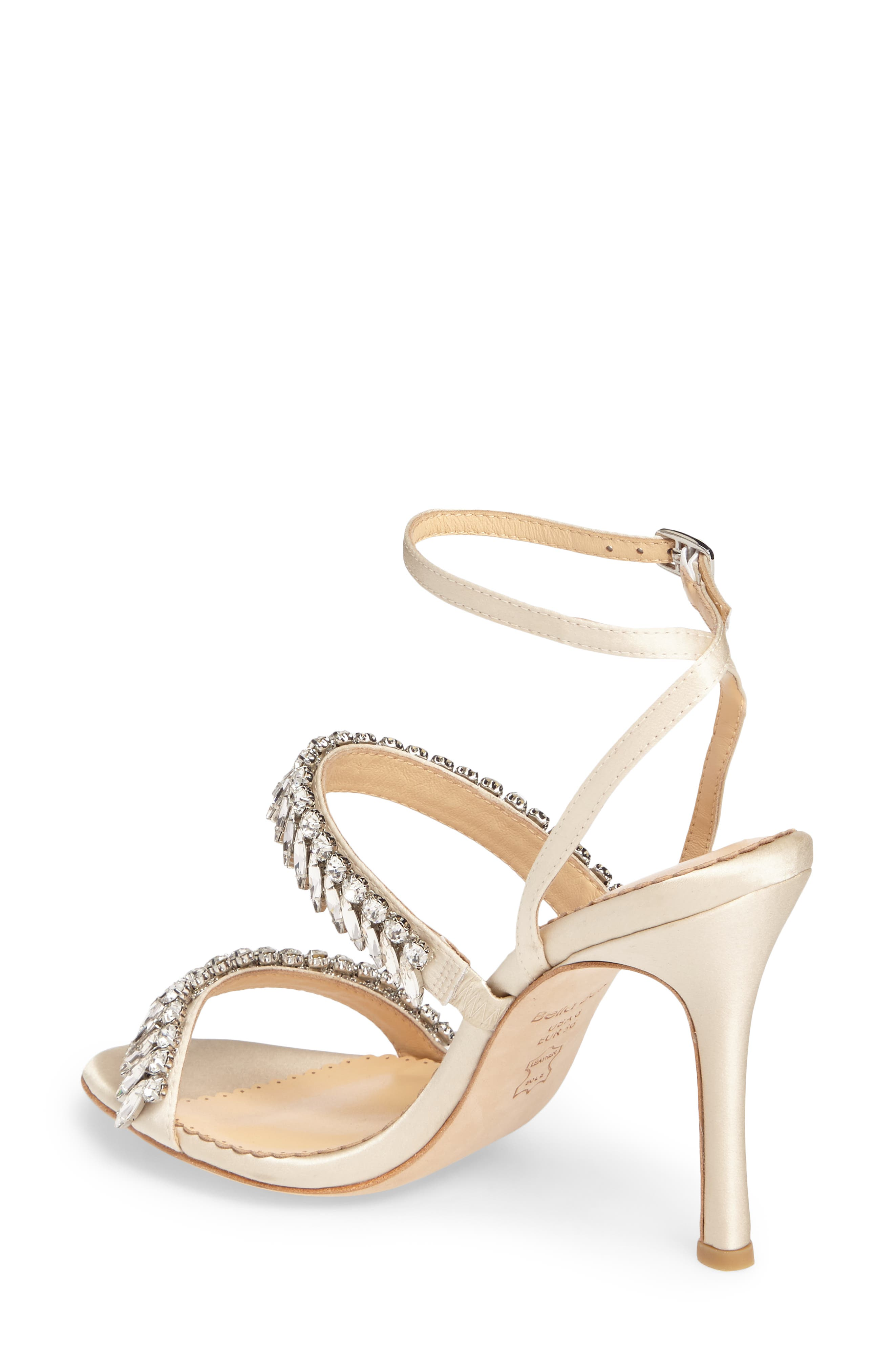 Belinda Embellished Sandal,                             Alternate thumbnail 2, color,                             Champagne