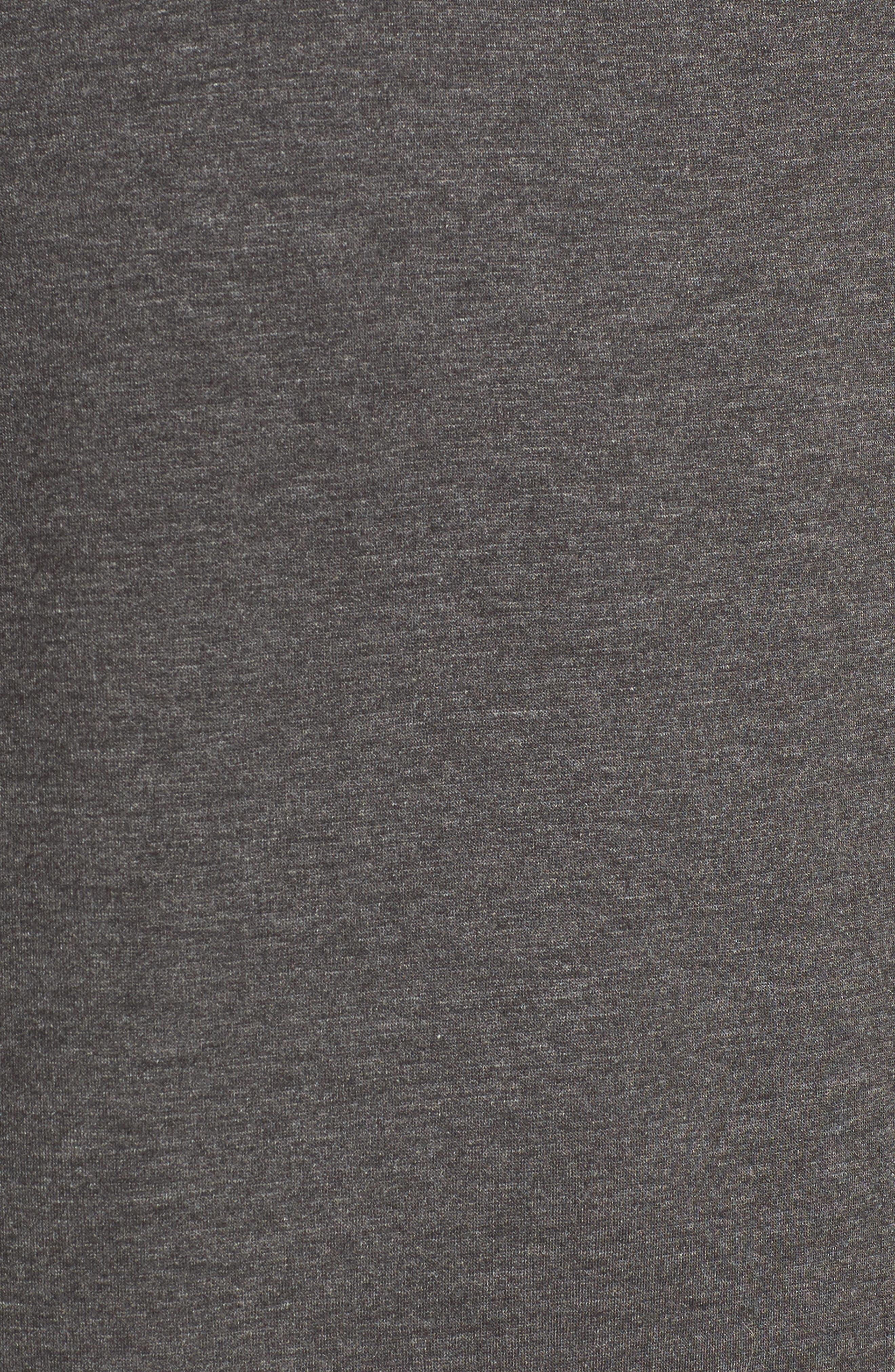 Ruffle Sleeve Sweater Dress,                             Alternate thumbnail 5, color,                             Charcoal