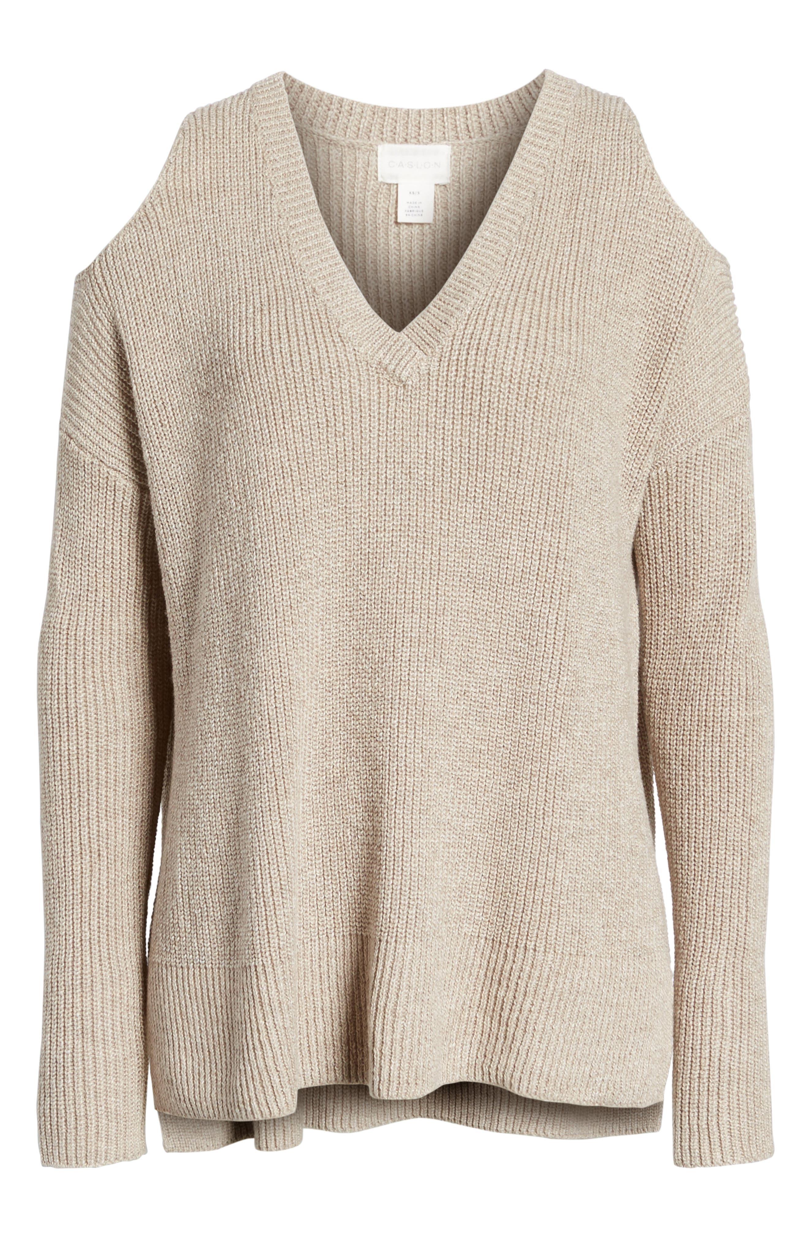 Alternate Image 6  - Caslon® Cold Shoulder Tunic Sweater