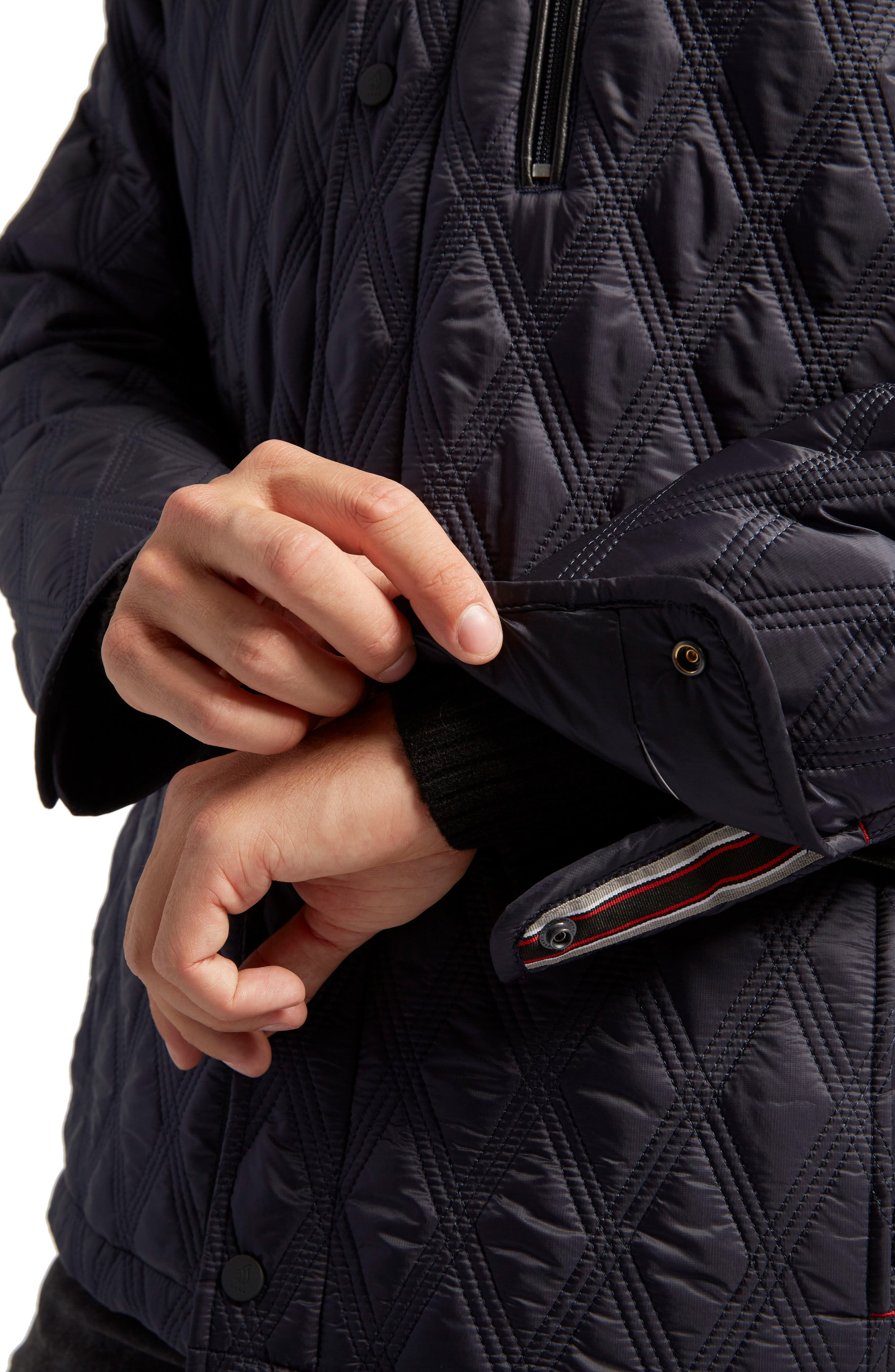 Prichard Triple Stitch Quilted Heat System Jacket,                             Alternate thumbnail 6, color,                             Midnight