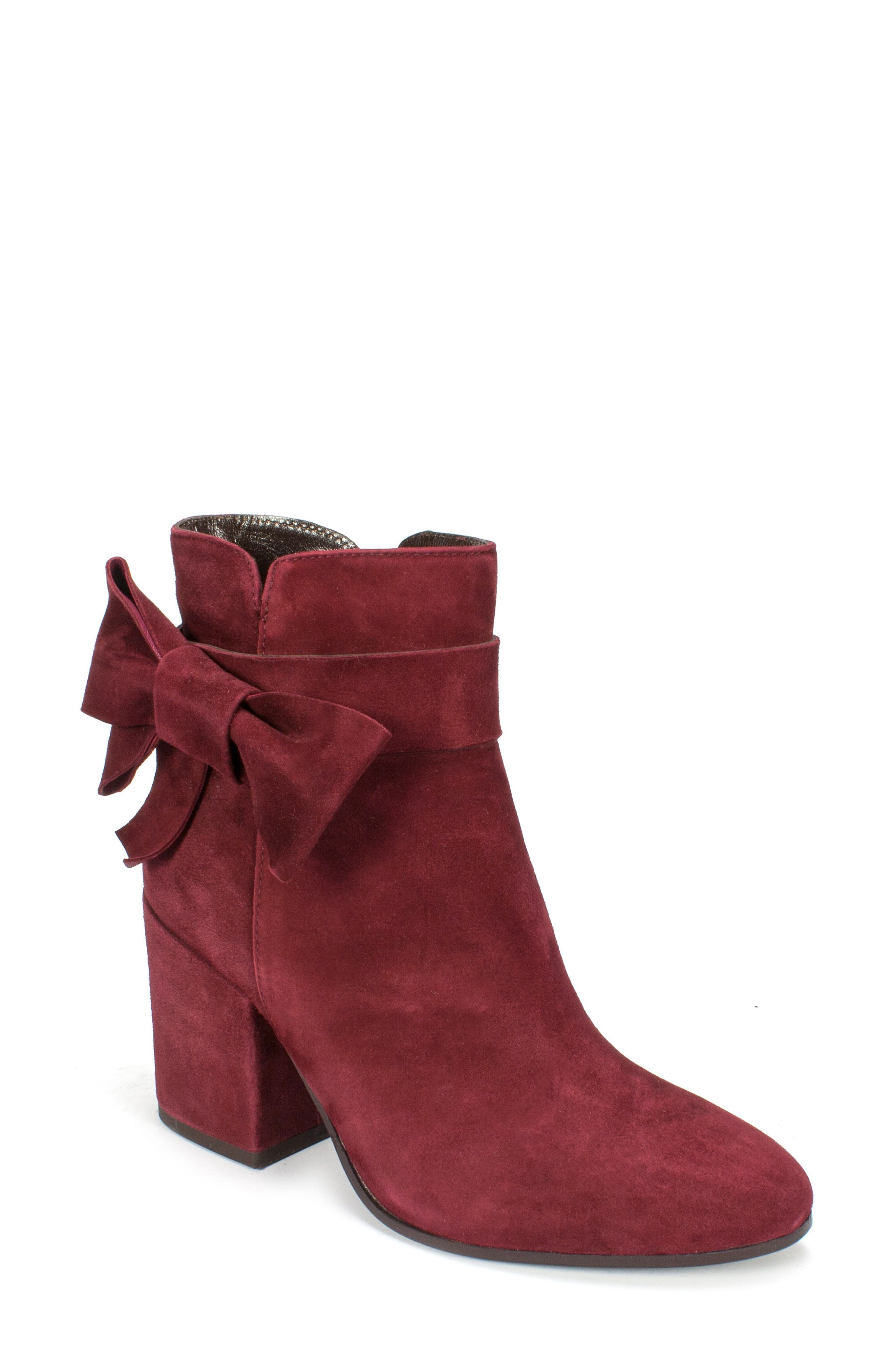 Stevie Bootie,                             Main thumbnail 1, color,                             Burgundy Suede