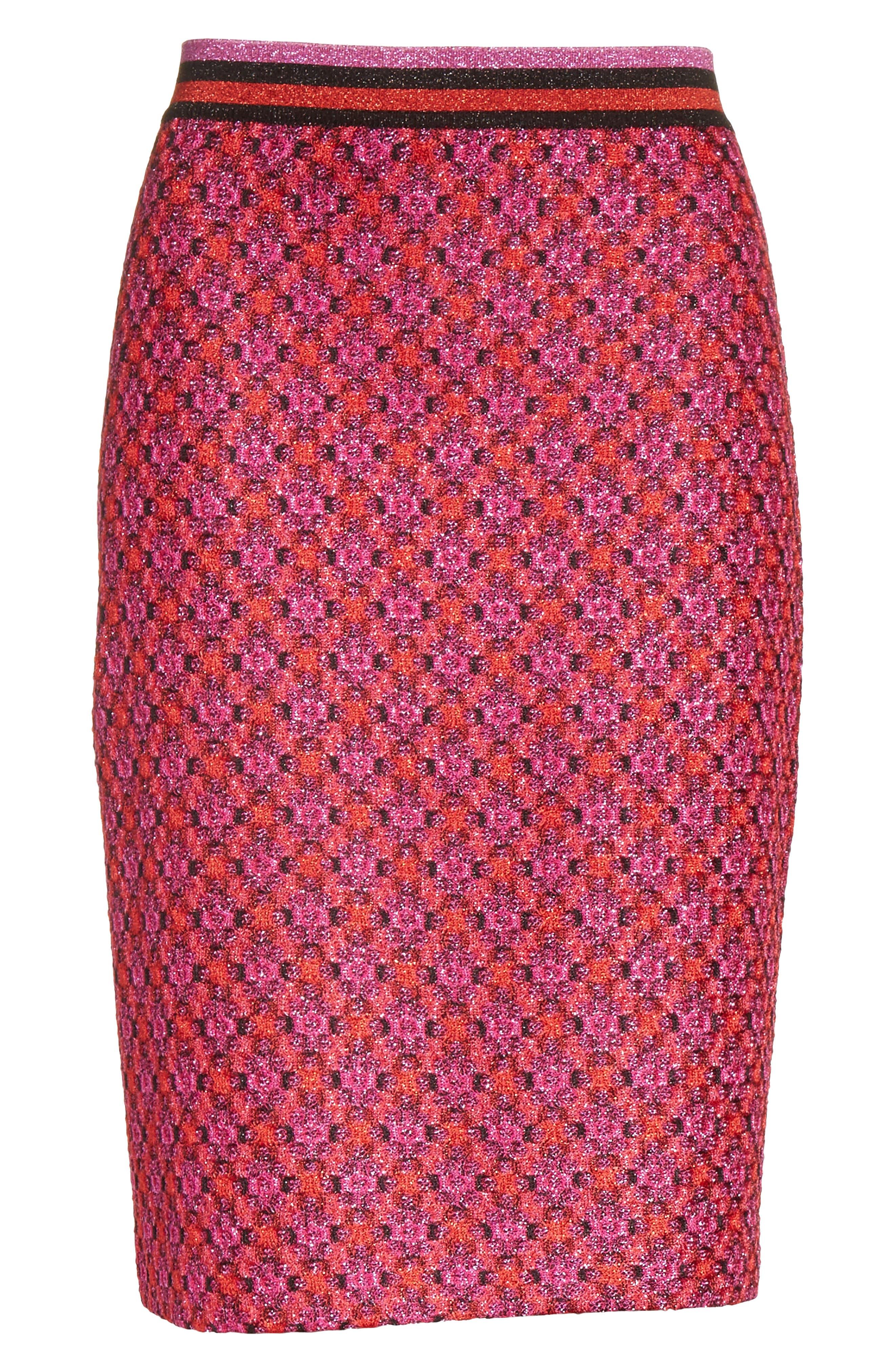 Alternate Image 6  - Missoni Metallic Crisscross Knit Pencil Skirt