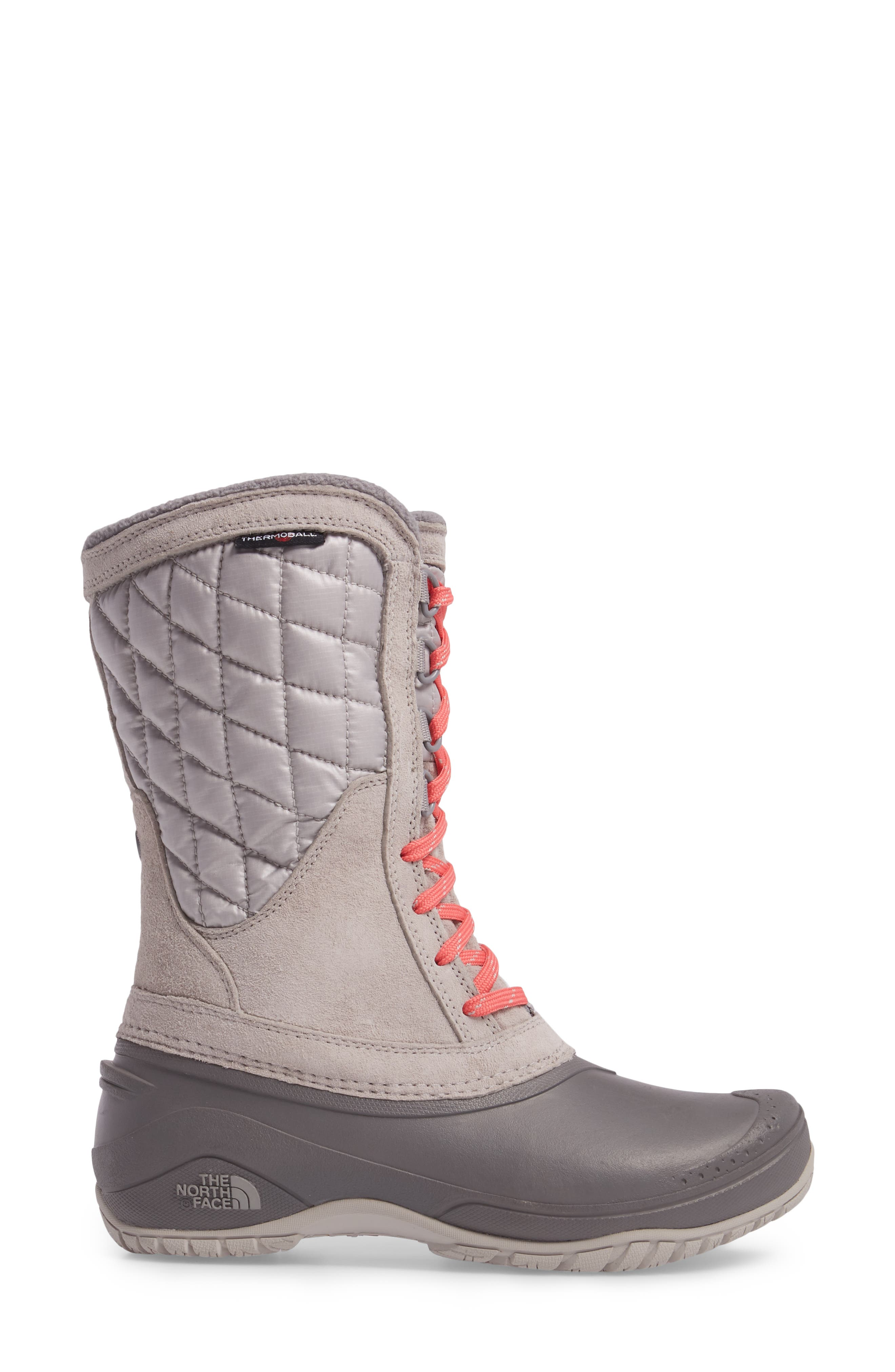 ThermoBall<sup>™</sup> Utility Waterproof Boot,                             Alternate thumbnail 3, color,                             Dove Grey/ Calypso Coral