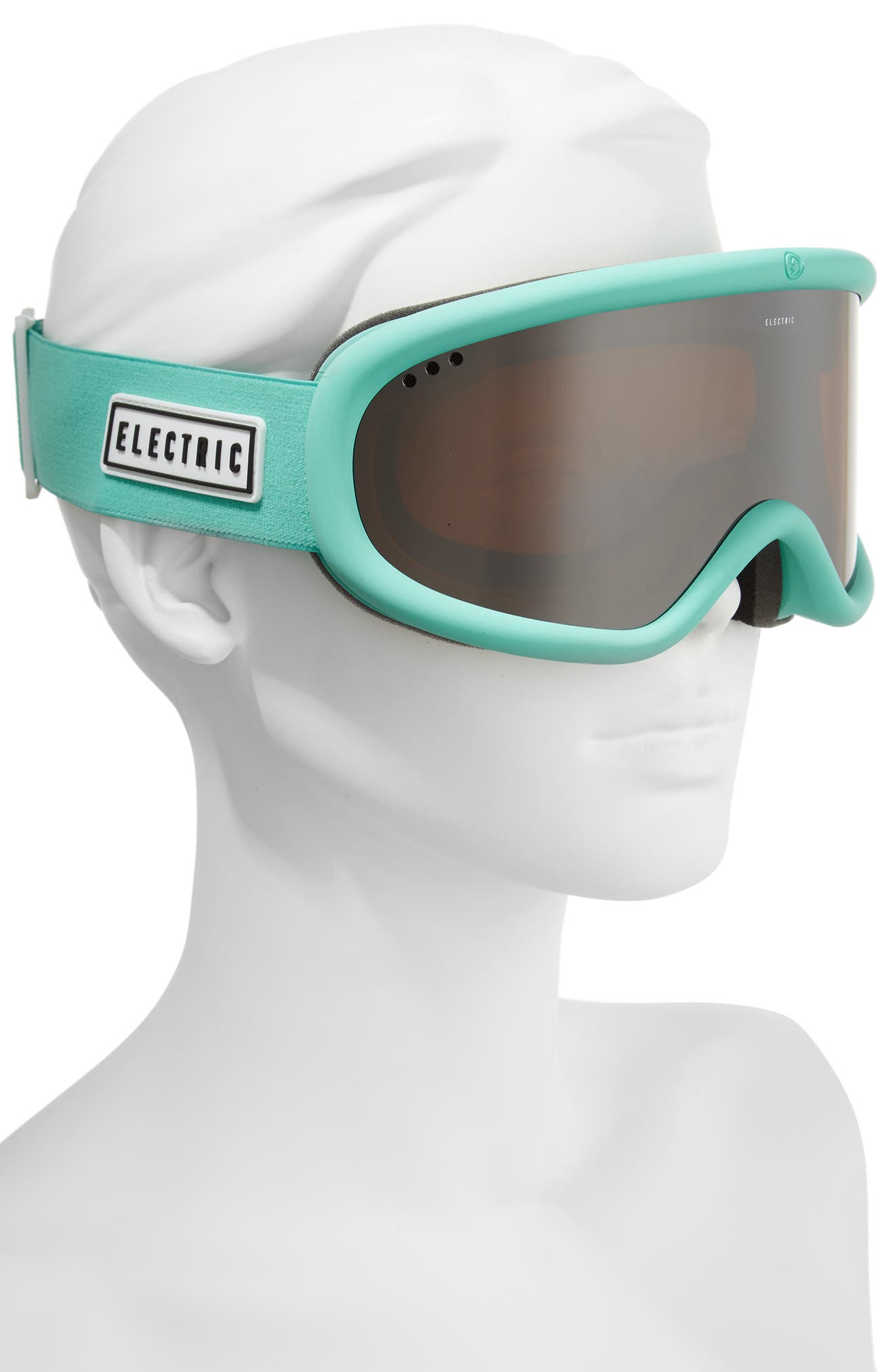 Charger Snow Goggles,                             Alternate thumbnail 2, color,                             Turquoise/ Silver Chrome