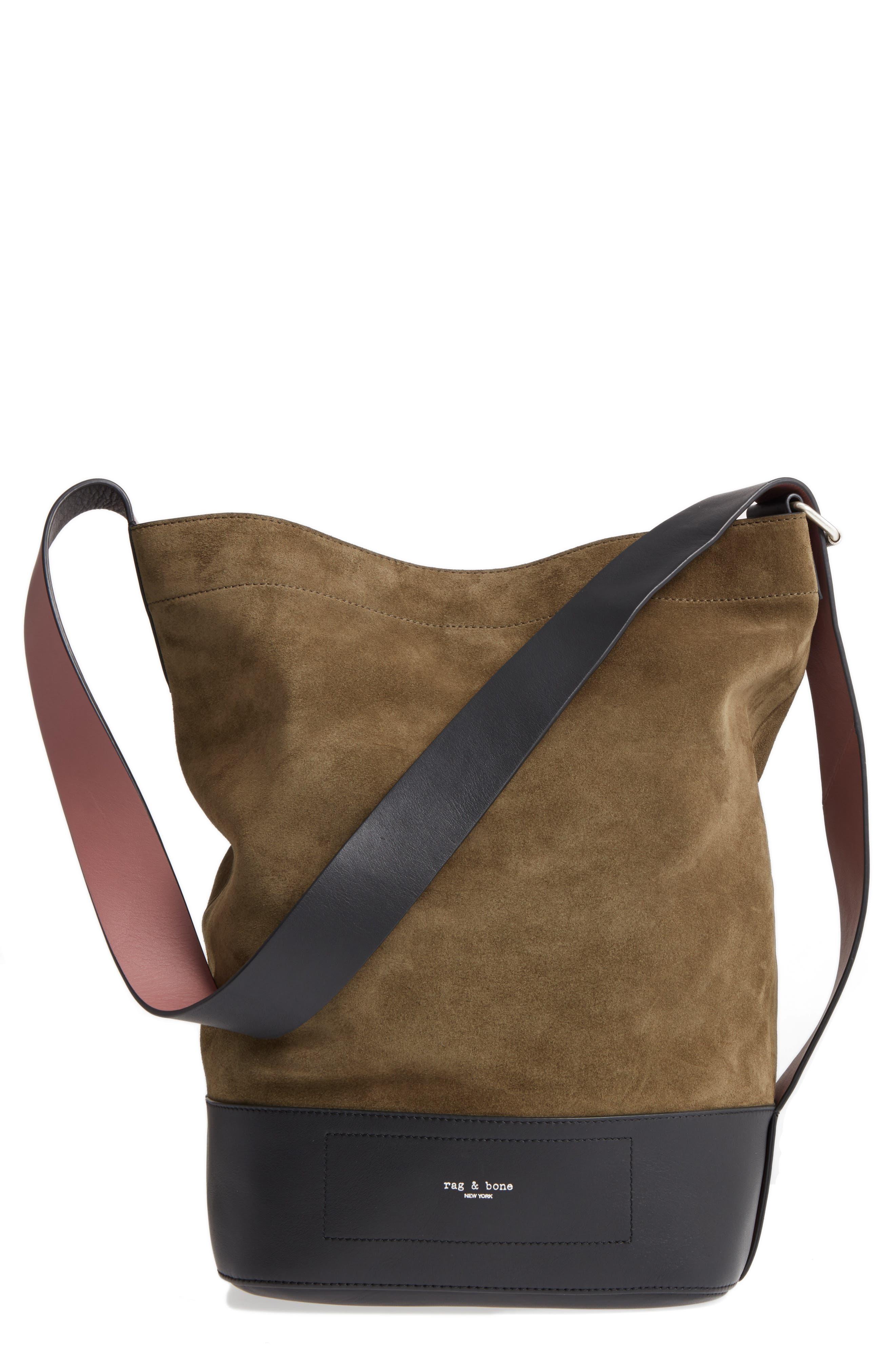Walker Sling Bag,                         Main,                         color, Olive Night Suede