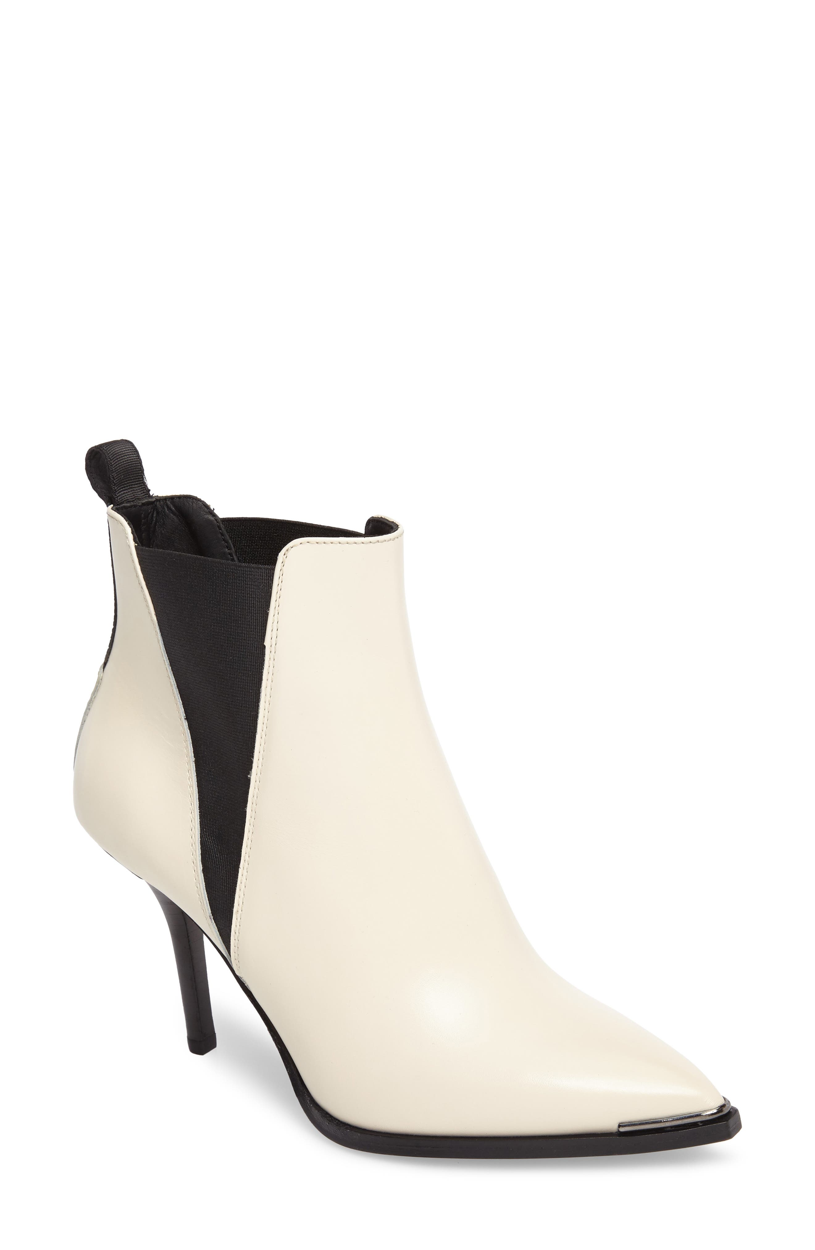 Jemma Pointy Toe Bootie,                         Main,                         color, Off White