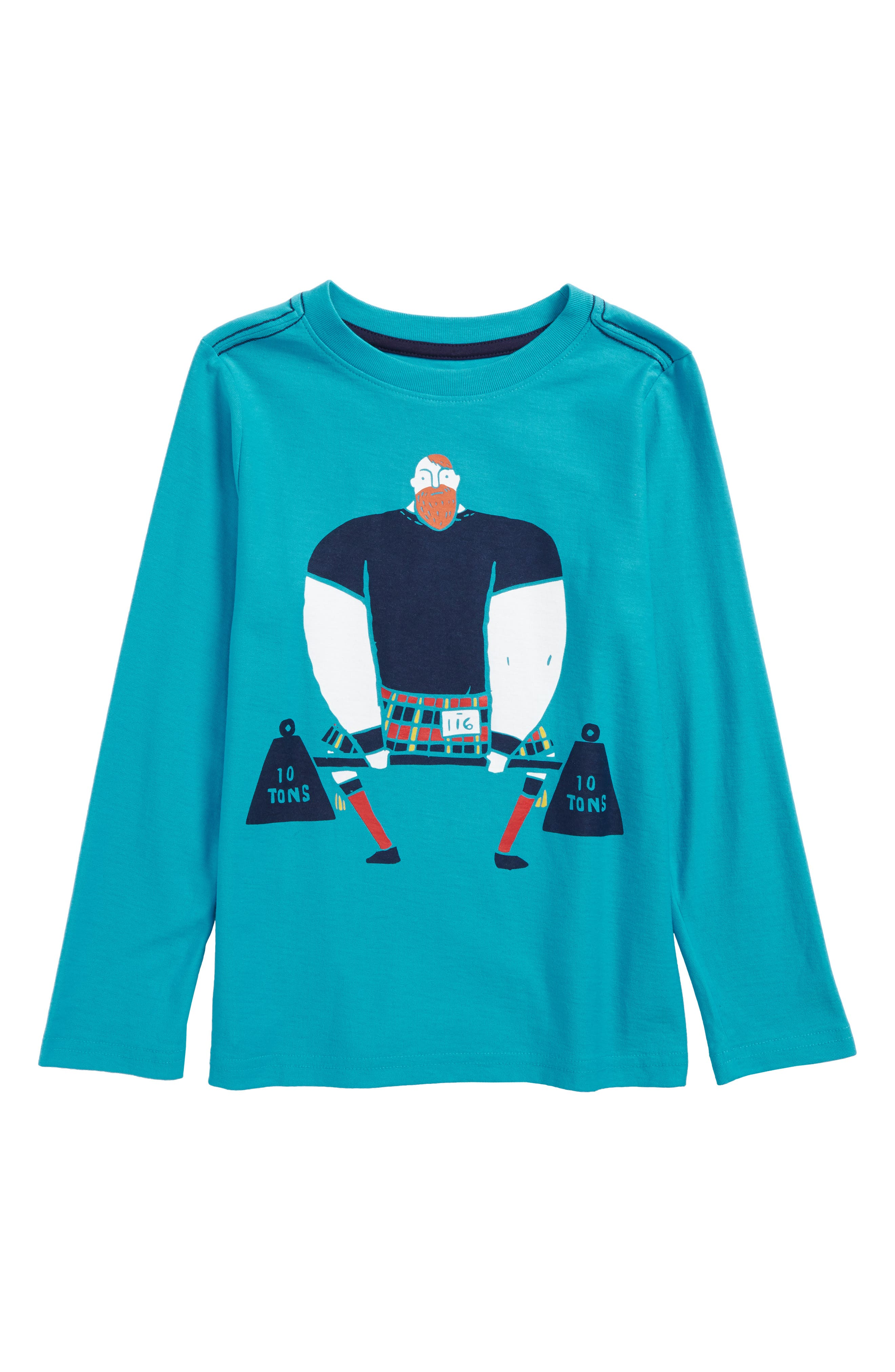 Strongman Graphic T-Shirt,                         Main,                         color, Pacific Blue