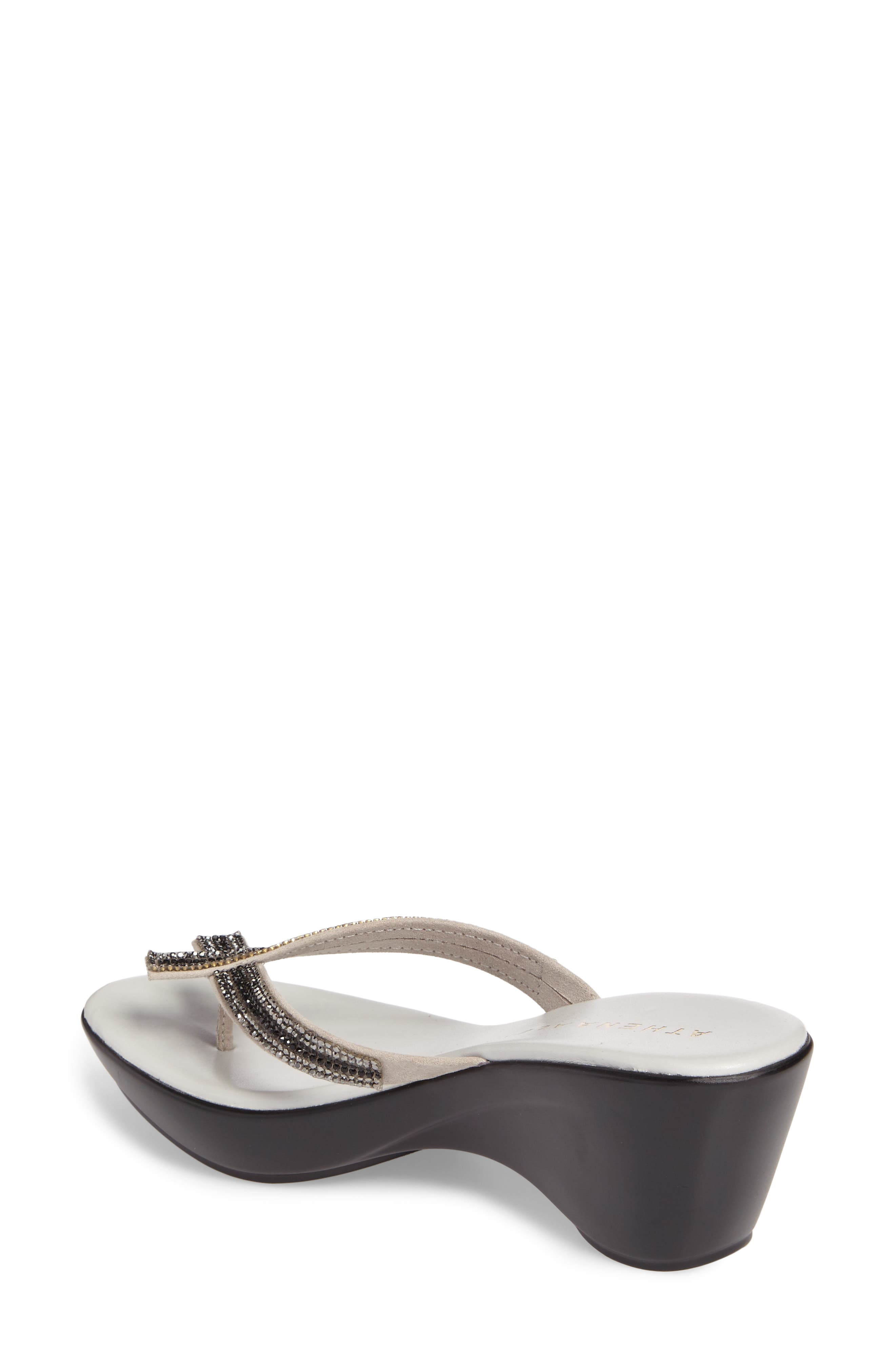 Sienna Wedge Sandal,                             Alternate thumbnail 2, color,                             Grey Synthetic