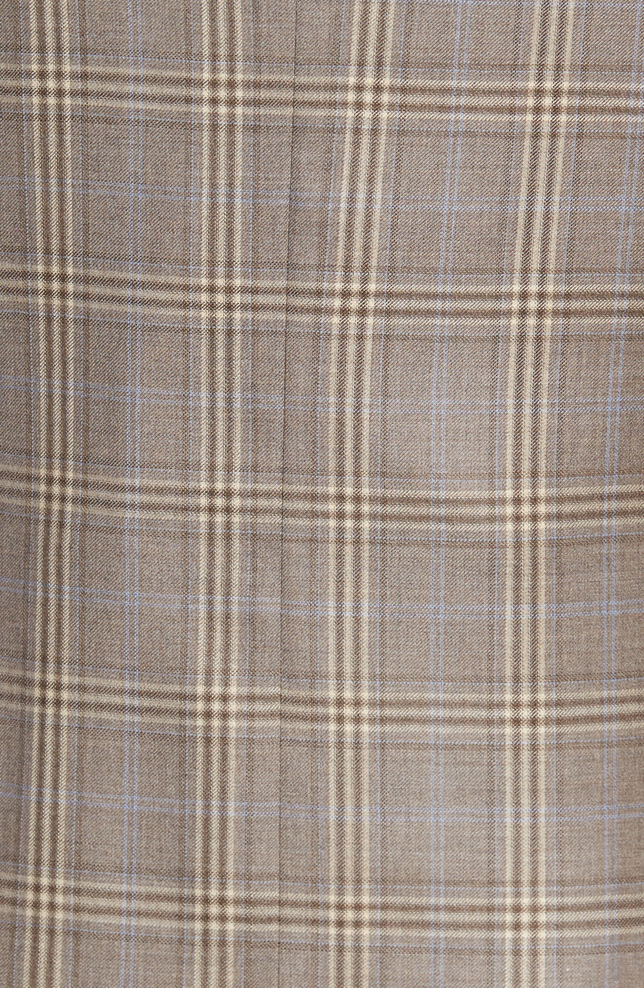Classic Fit Plaid Wool Sport Coat,                             Alternate thumbnail 5, color,                             Light Brown