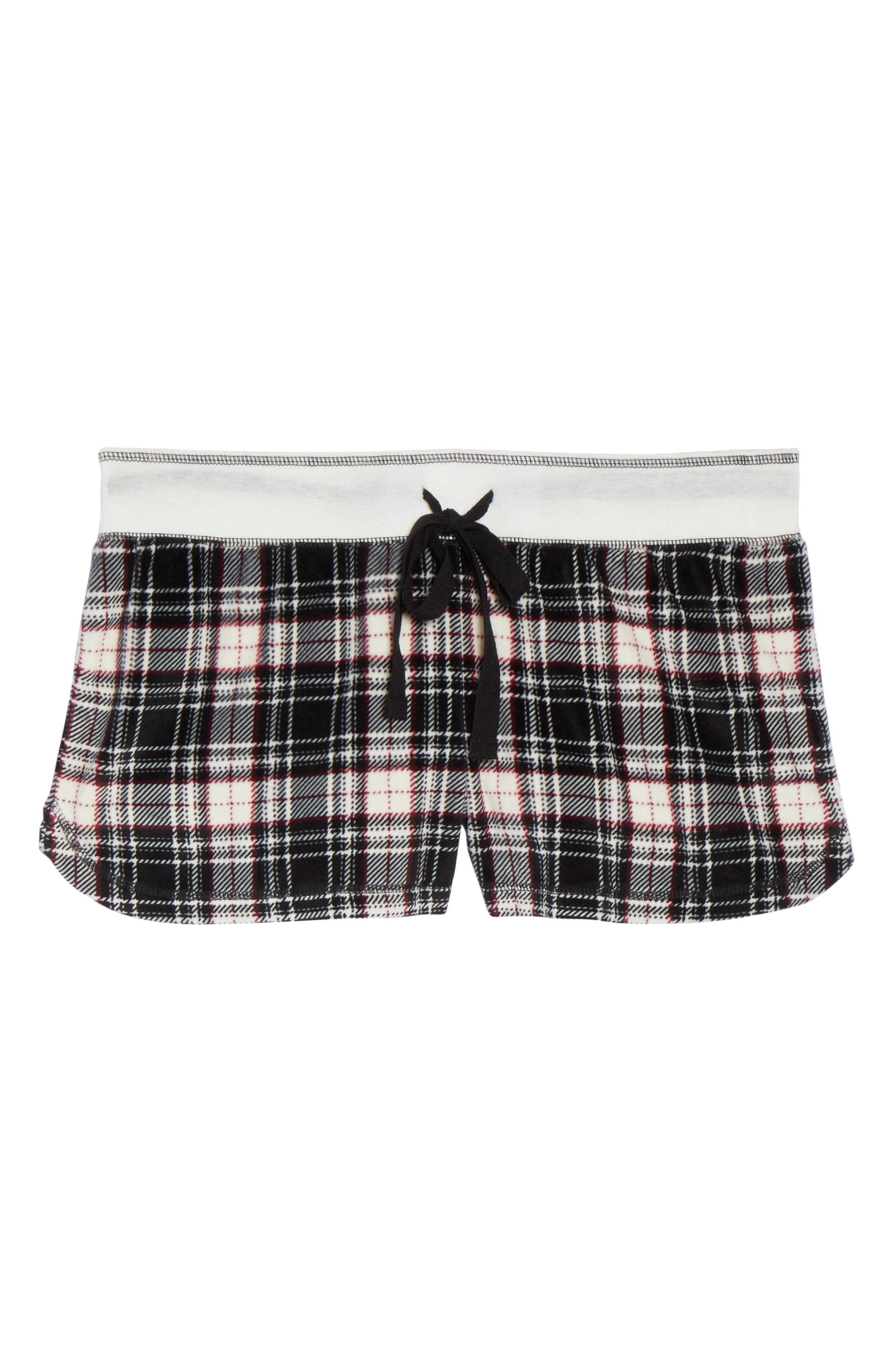 Velour Shorts,                             Alternate thumbnail 4, color,                             Black