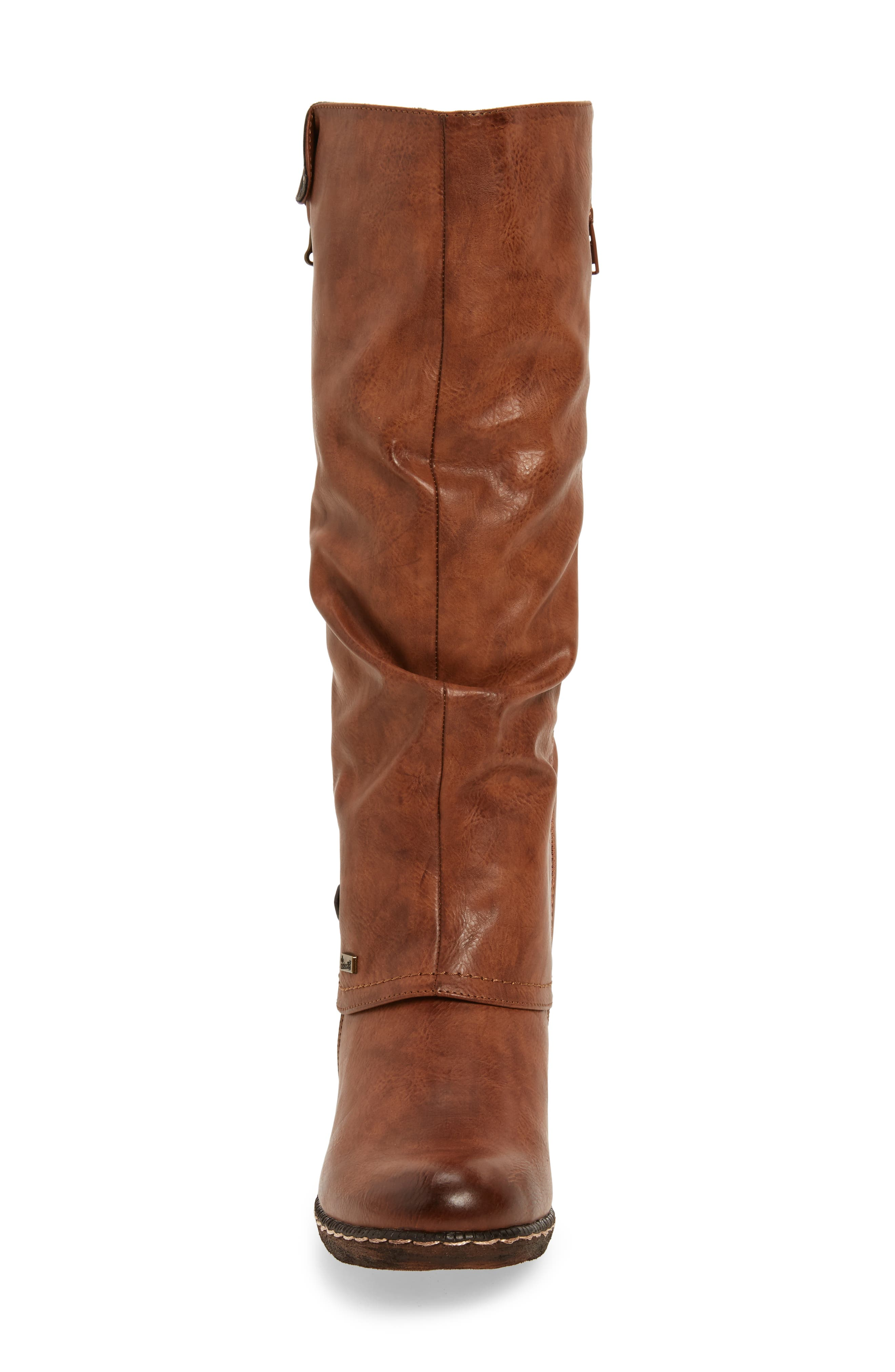 'Bernadette 55' Slightly Slouchy All Weather Boot,                             Alternate thumbnail 4, color,                             Kastanie Faux Leather