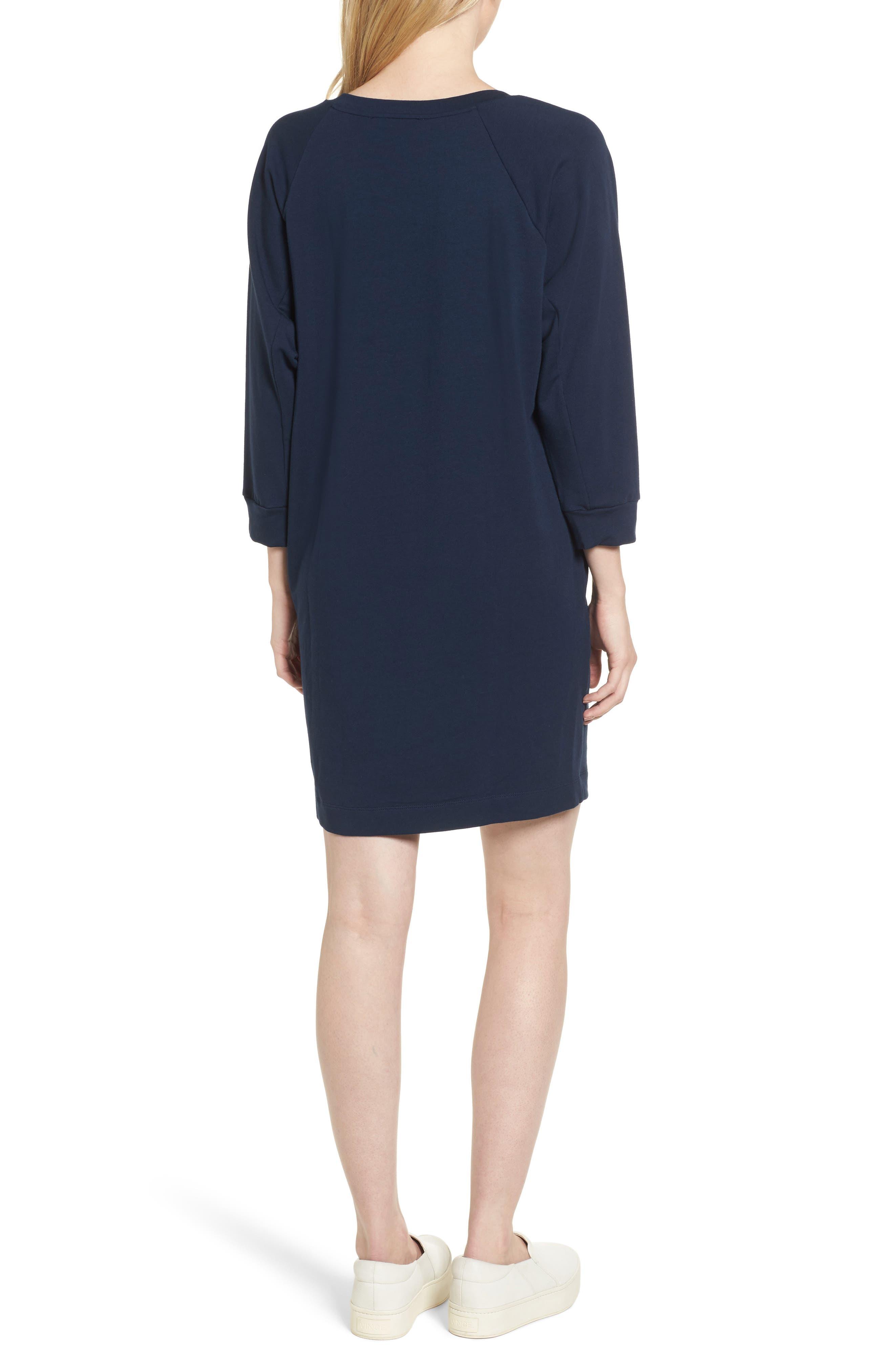Nadja Dolman Sleeve Dress,                             Alternate thumbnail 3, color,                             Navy