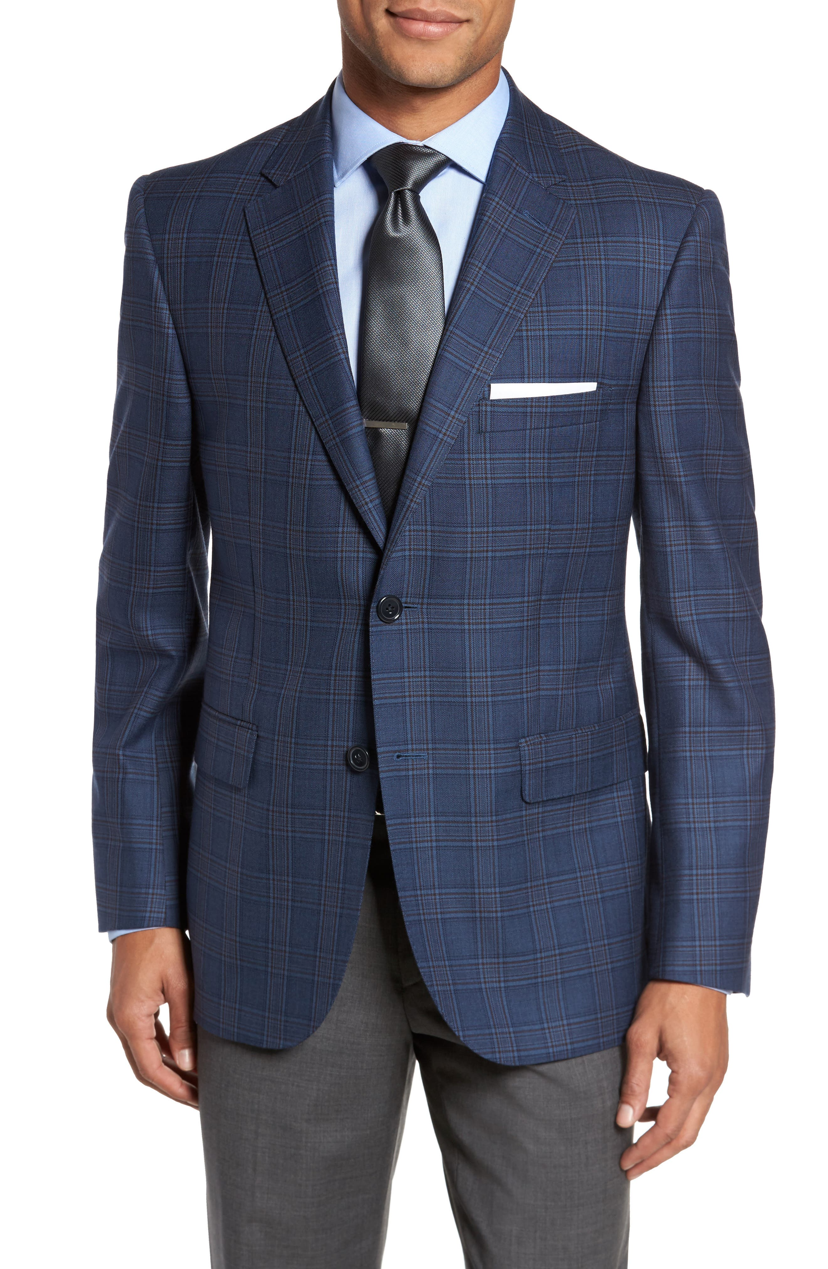 Main Image - JB Britches Classic Fit Plaid Wool Sport Coat