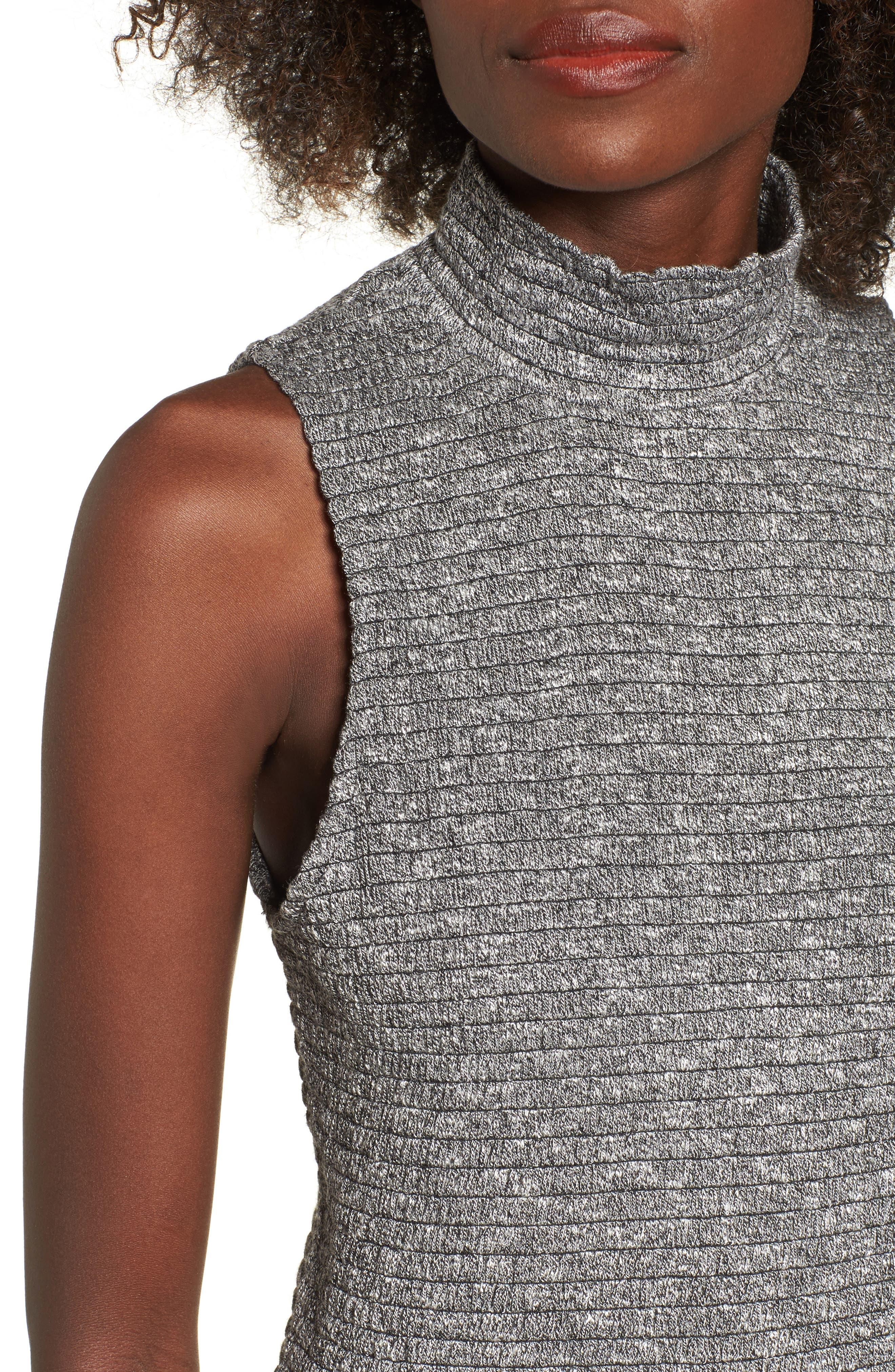 Smocked Knit Tank Top,                             Alternate thumbnail 4, color,                             Grey