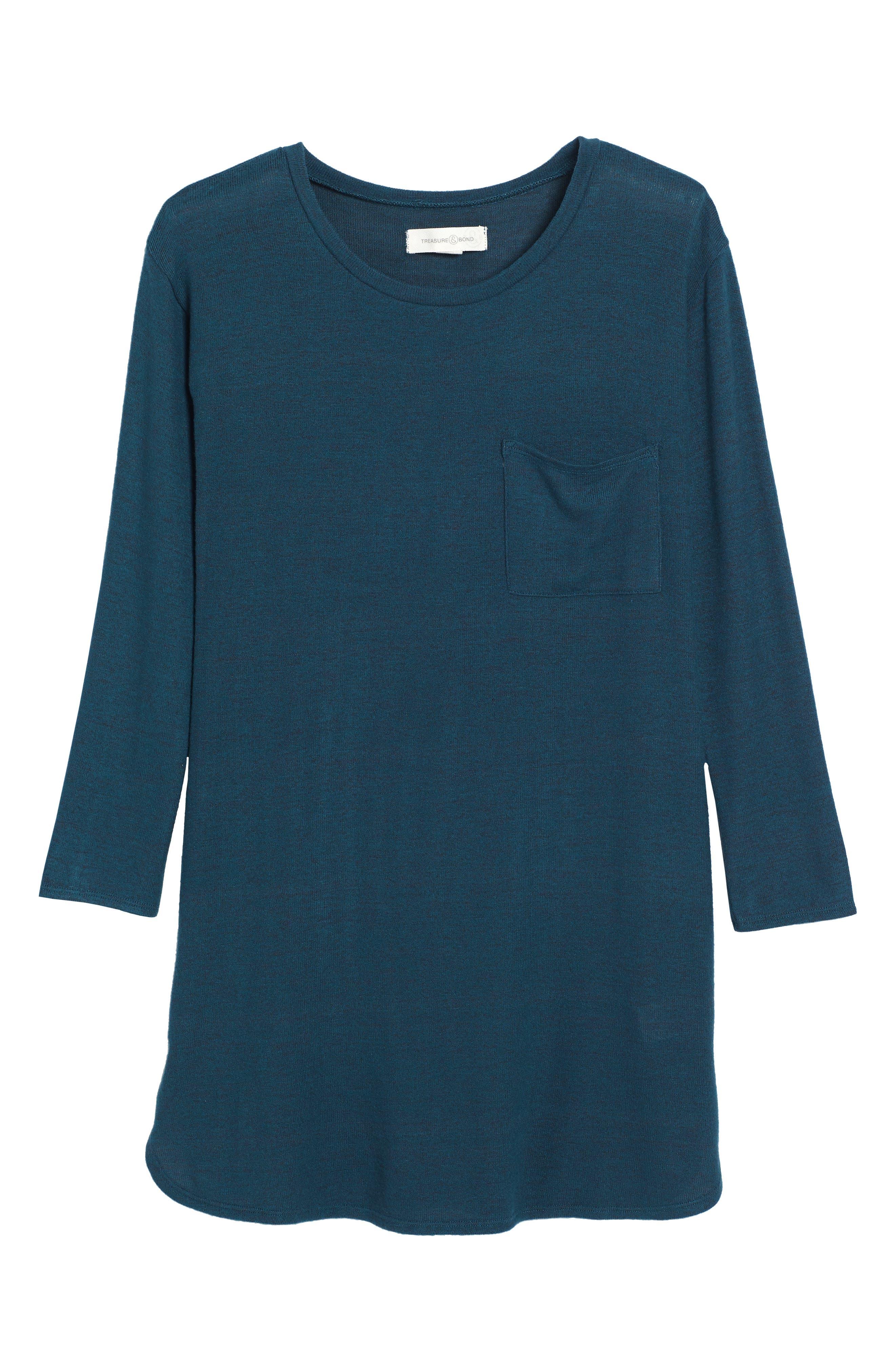 Treasure & Bond Cozy Shirtdress (Big Girls)
