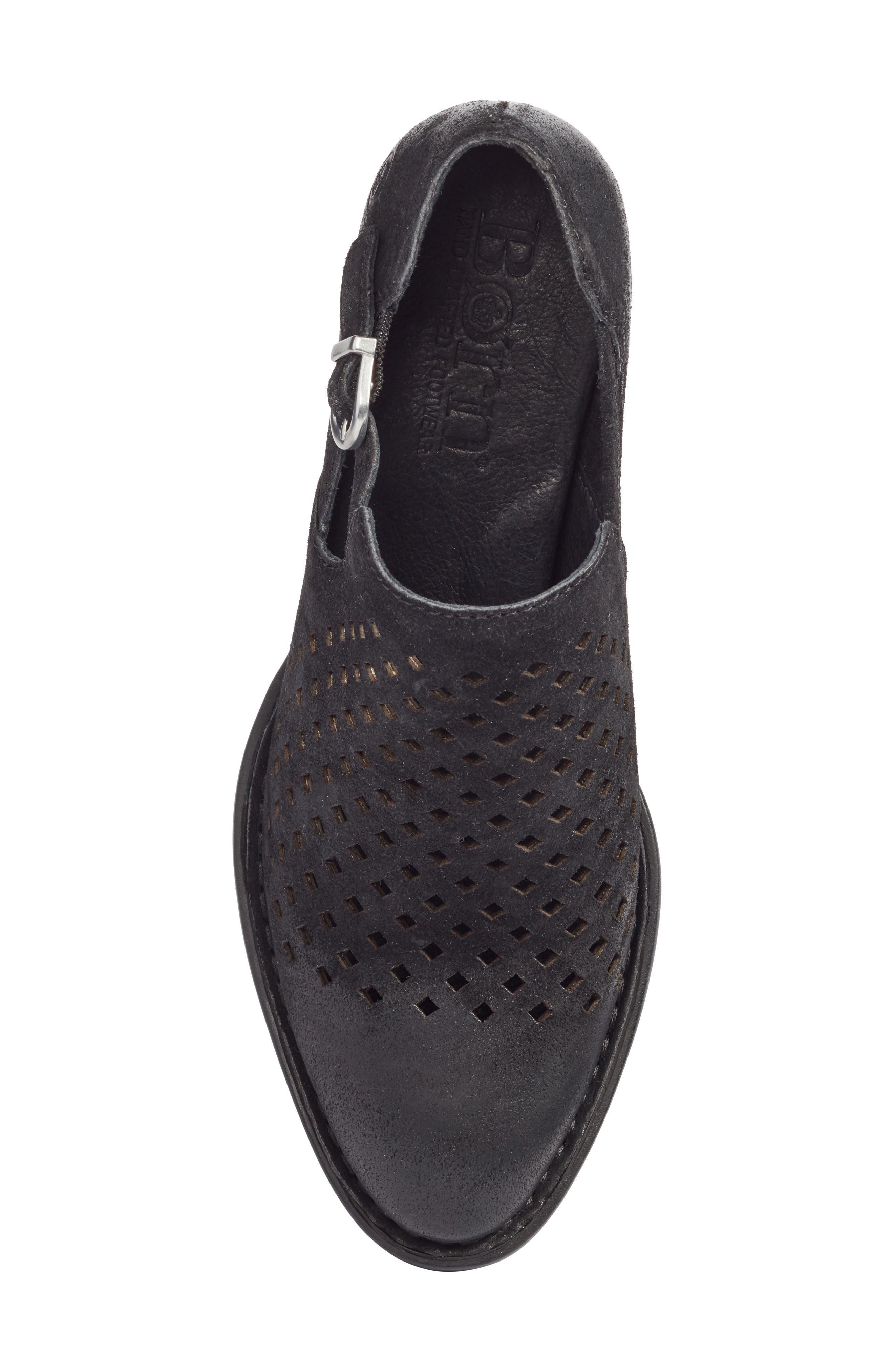 Nanna Bootie,                             Alternate thumbnail 5, color,                             Black Leather