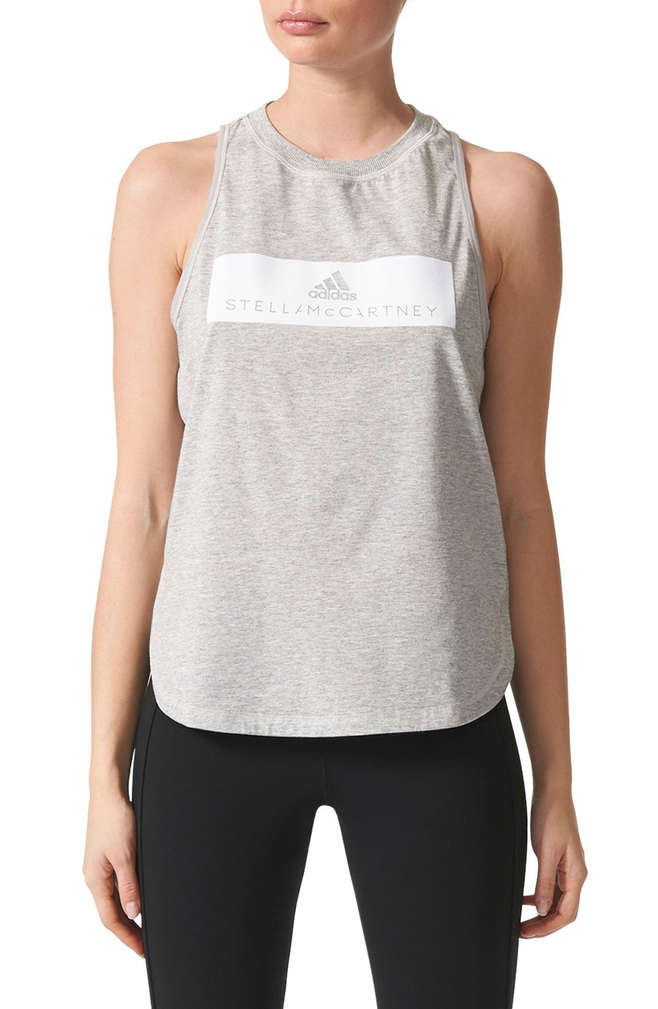 Alternate Image 1 Selected - adidas by Stella McCartney Essentials Logo Tank
