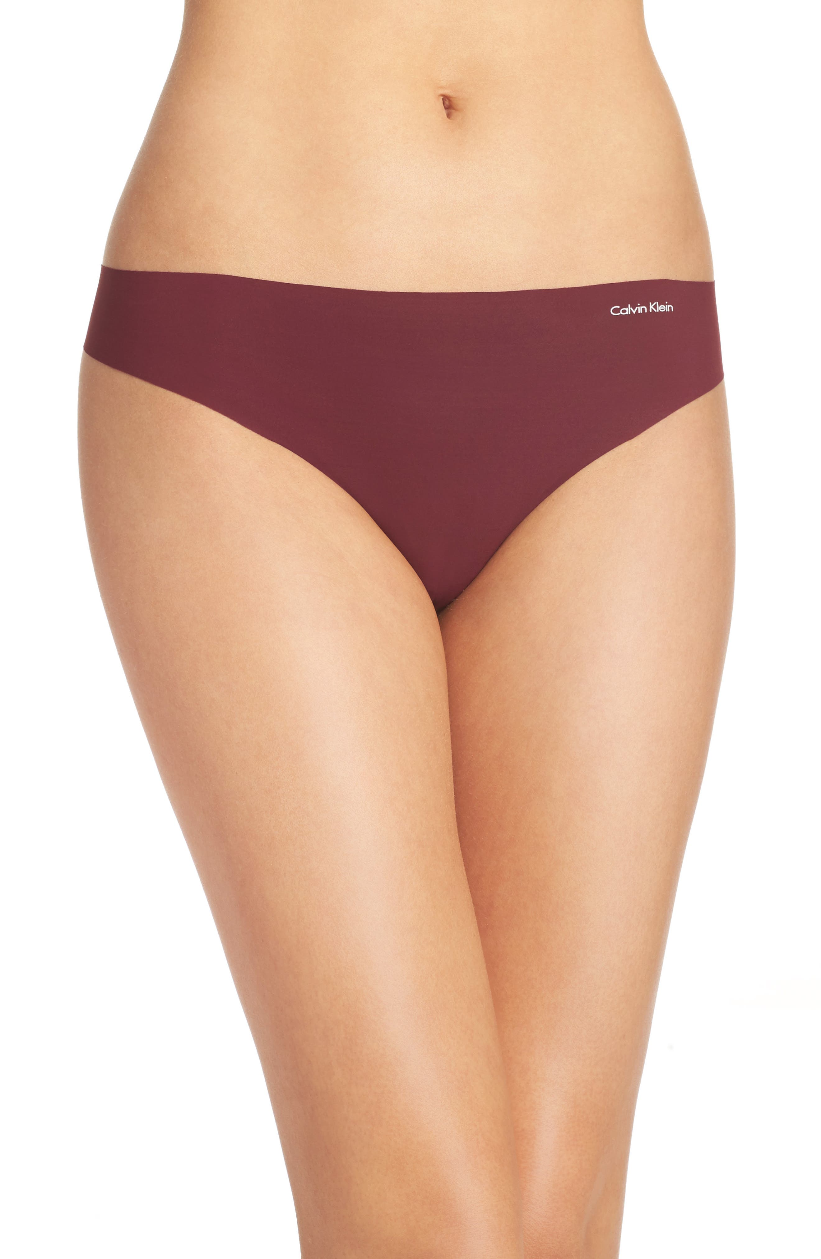 Calvin Klein 'Invisibles' Thong (3 for $33)