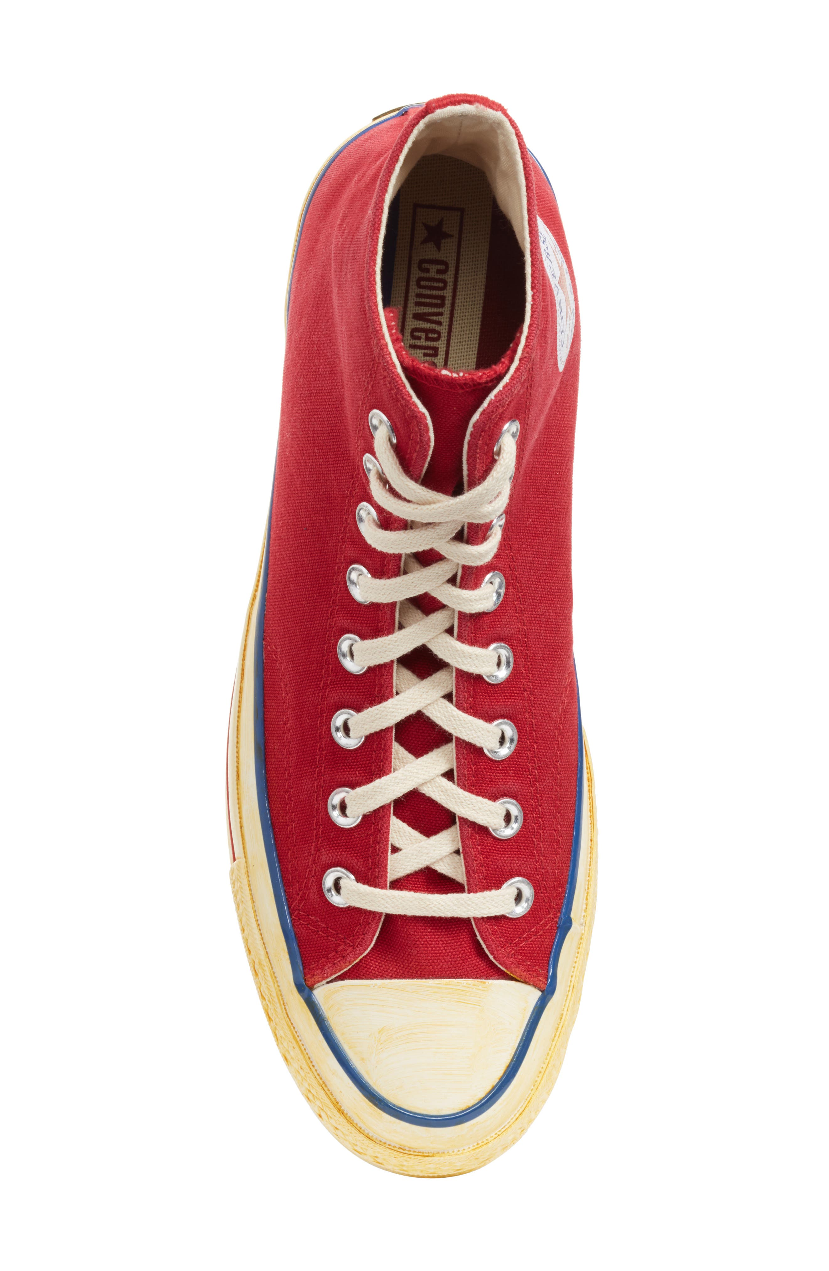 Chuck Taylor<sup>®</sup> All Star<sup>®</sup> 70 High Top Sneaker,                             Alternate thumbnail 6, color,                             Red