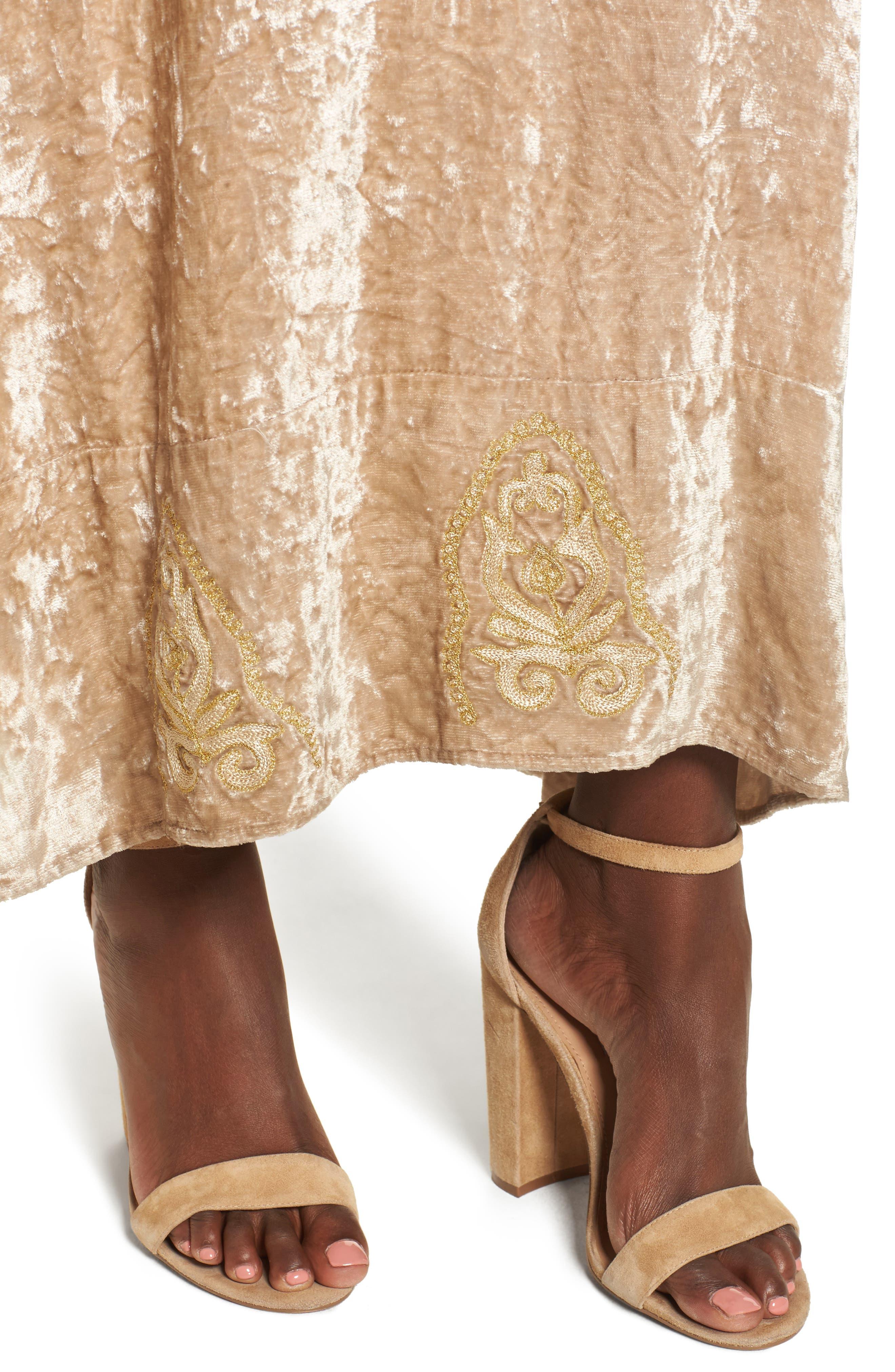 Alternate Image 4  - Raga Romantic Visions Velvet Maxi Dress