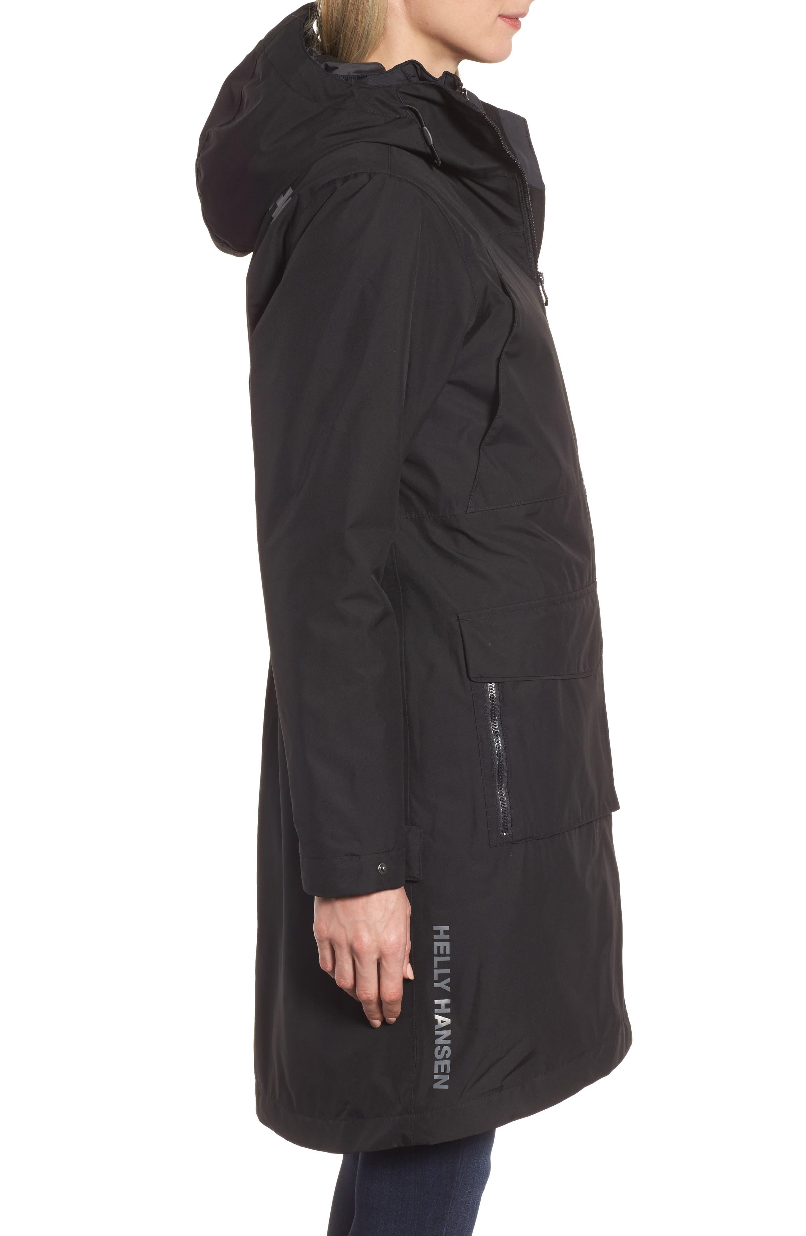 Rigging Waterproof 3-in-1 Raincoat,                             Alternate thumbnail 3, color,                             Para Black