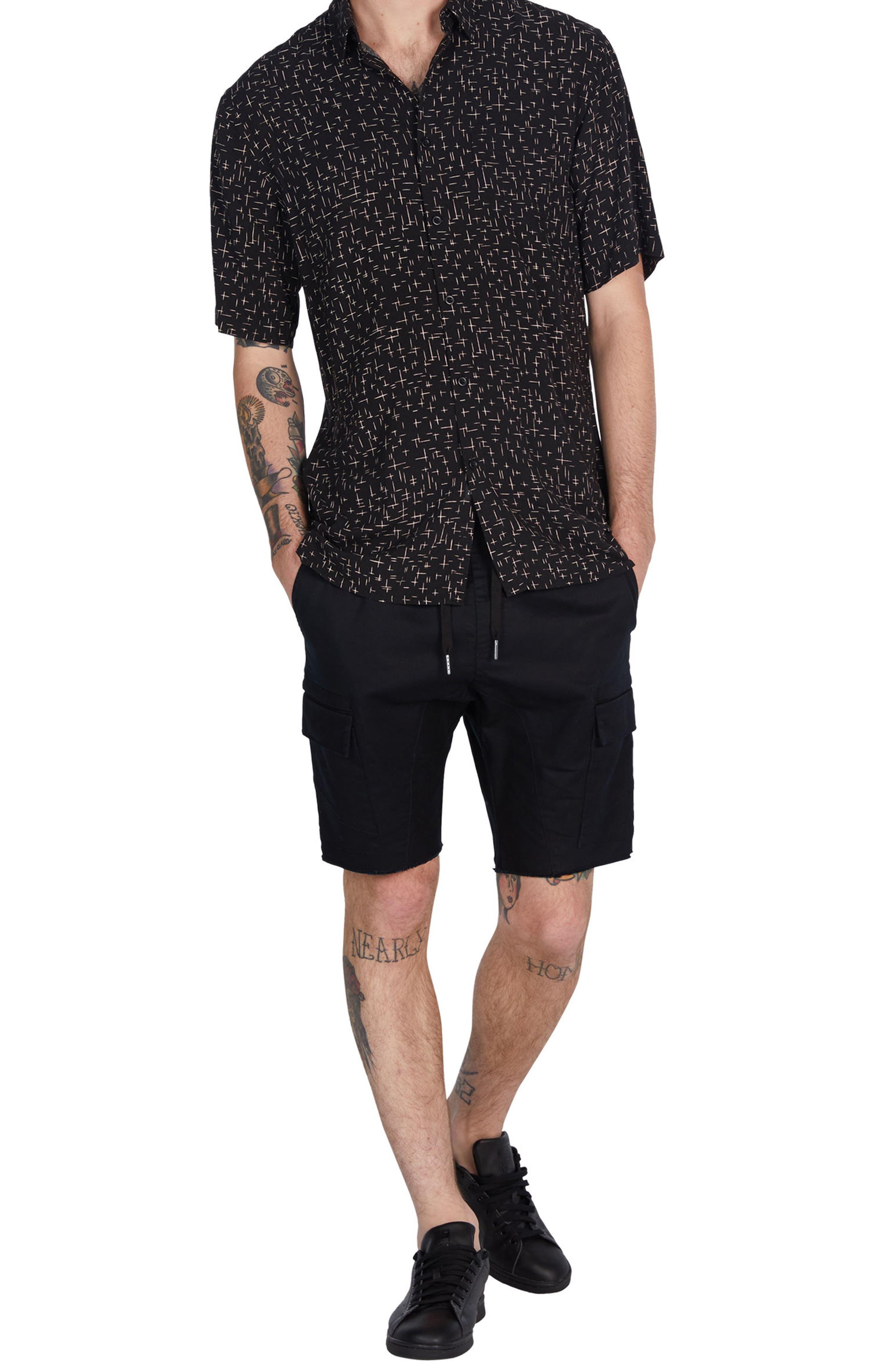 XCross Box Shirt,                             Alternate thumbnail 5, color,                             Black/ Quartz