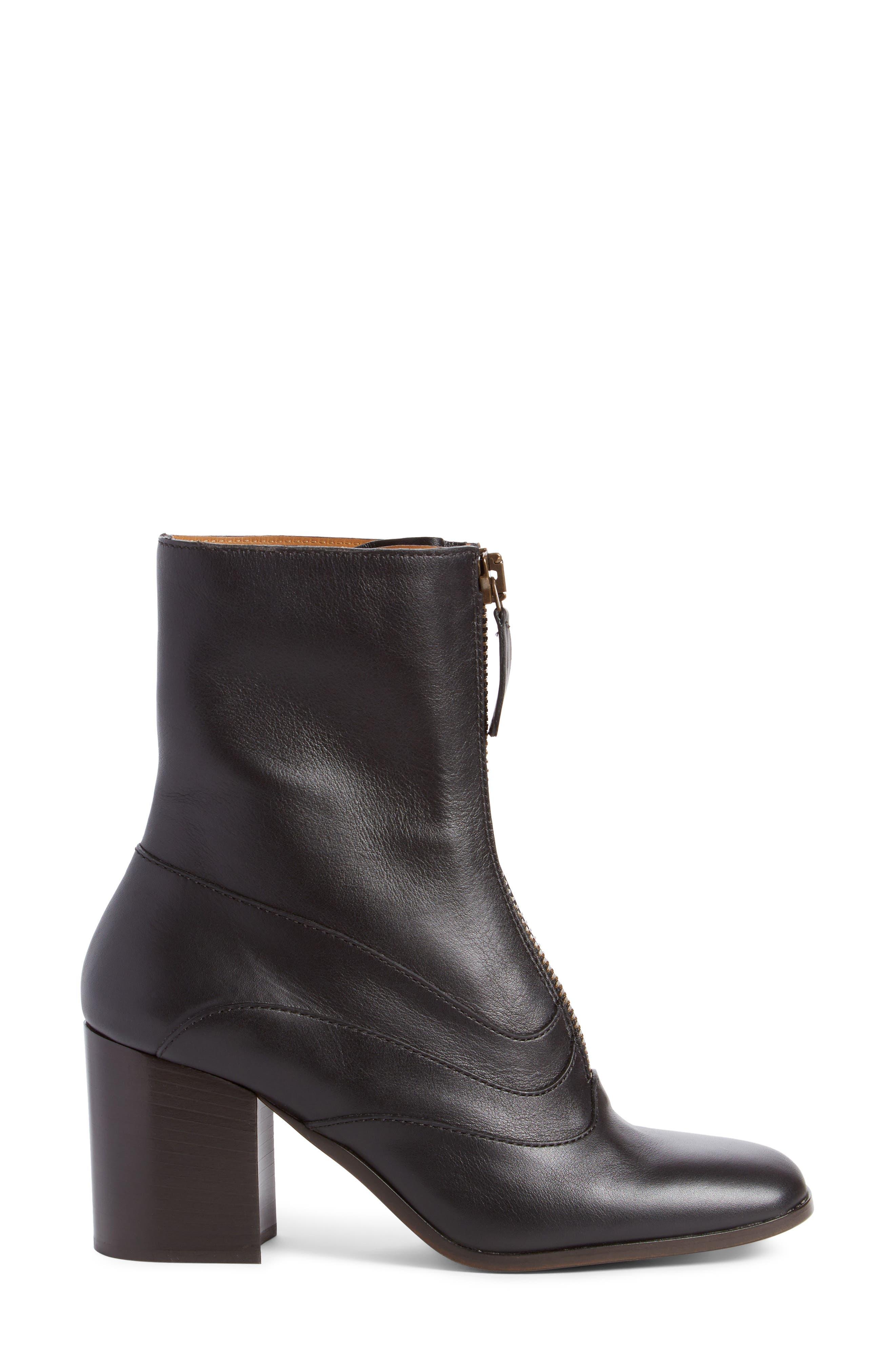 Qacey Square Toe Boot,                             Alternate thumbnail 4, color,                             Black