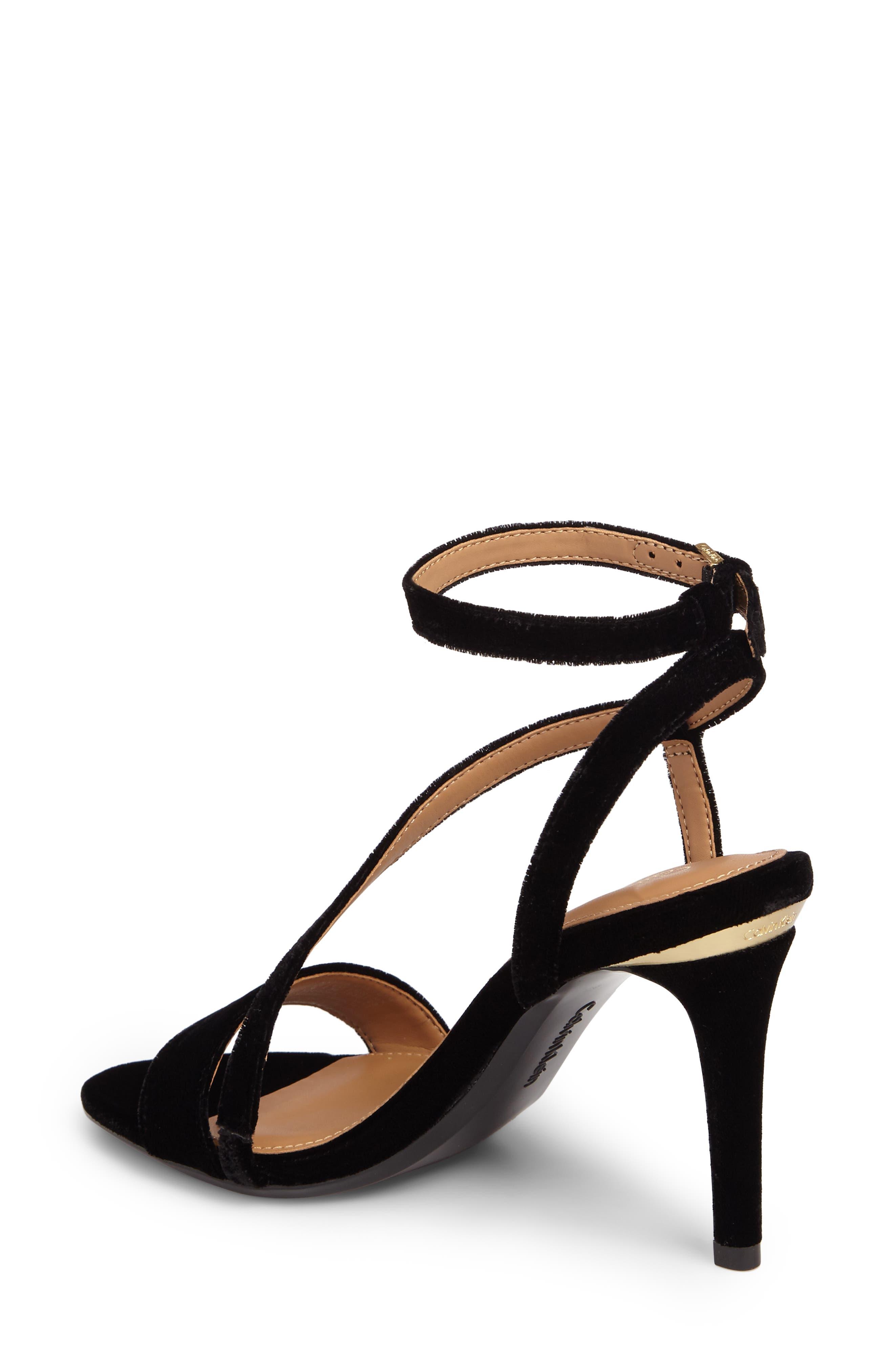 Nyssa Sandal,                             Alternate thumbnail 2, color,                             Black Velvet