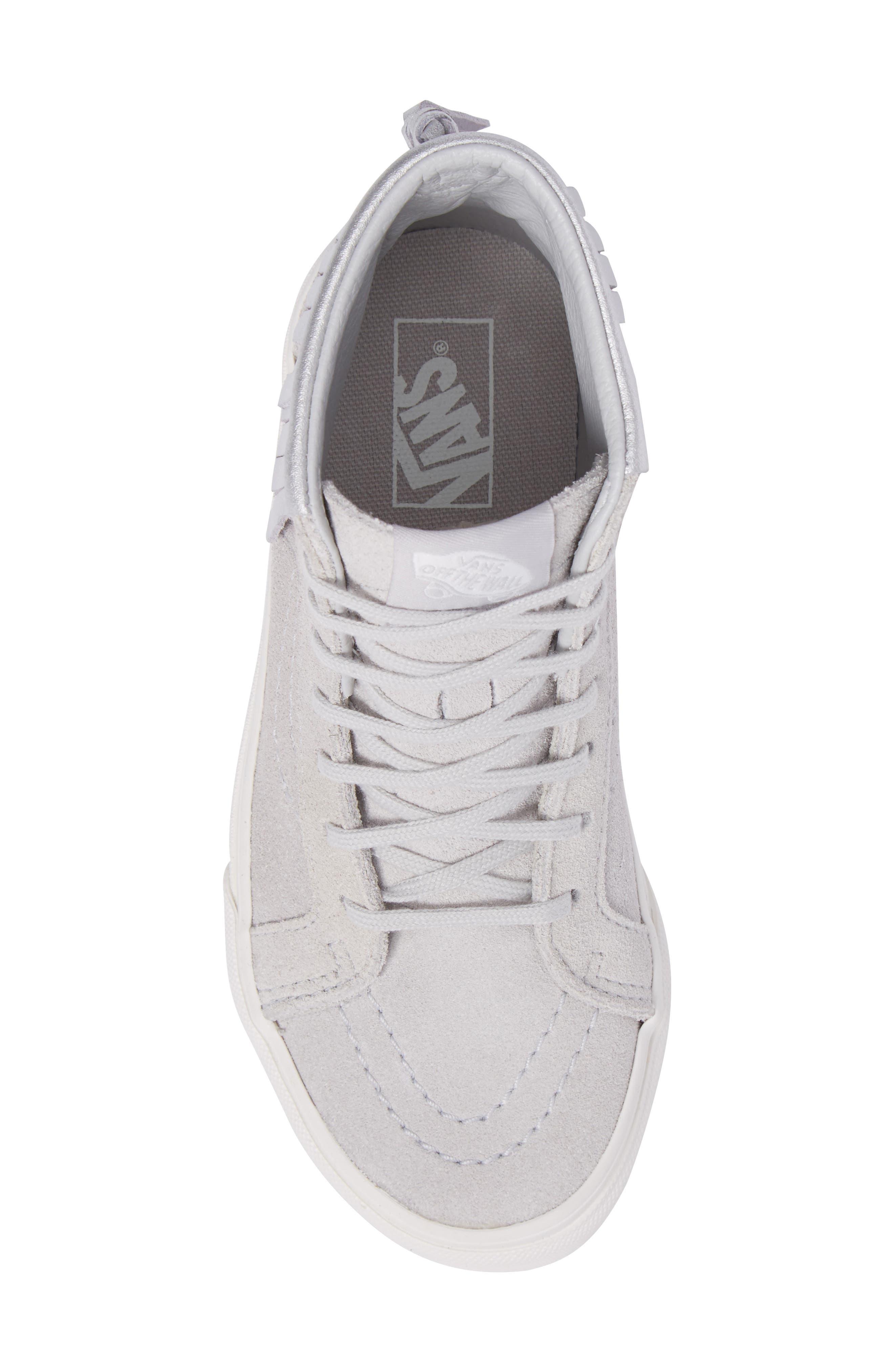 Sk8-Hi Moc Sneaker,                             Alternate thumbnail 5, color,                             Metallic Glacier Gray