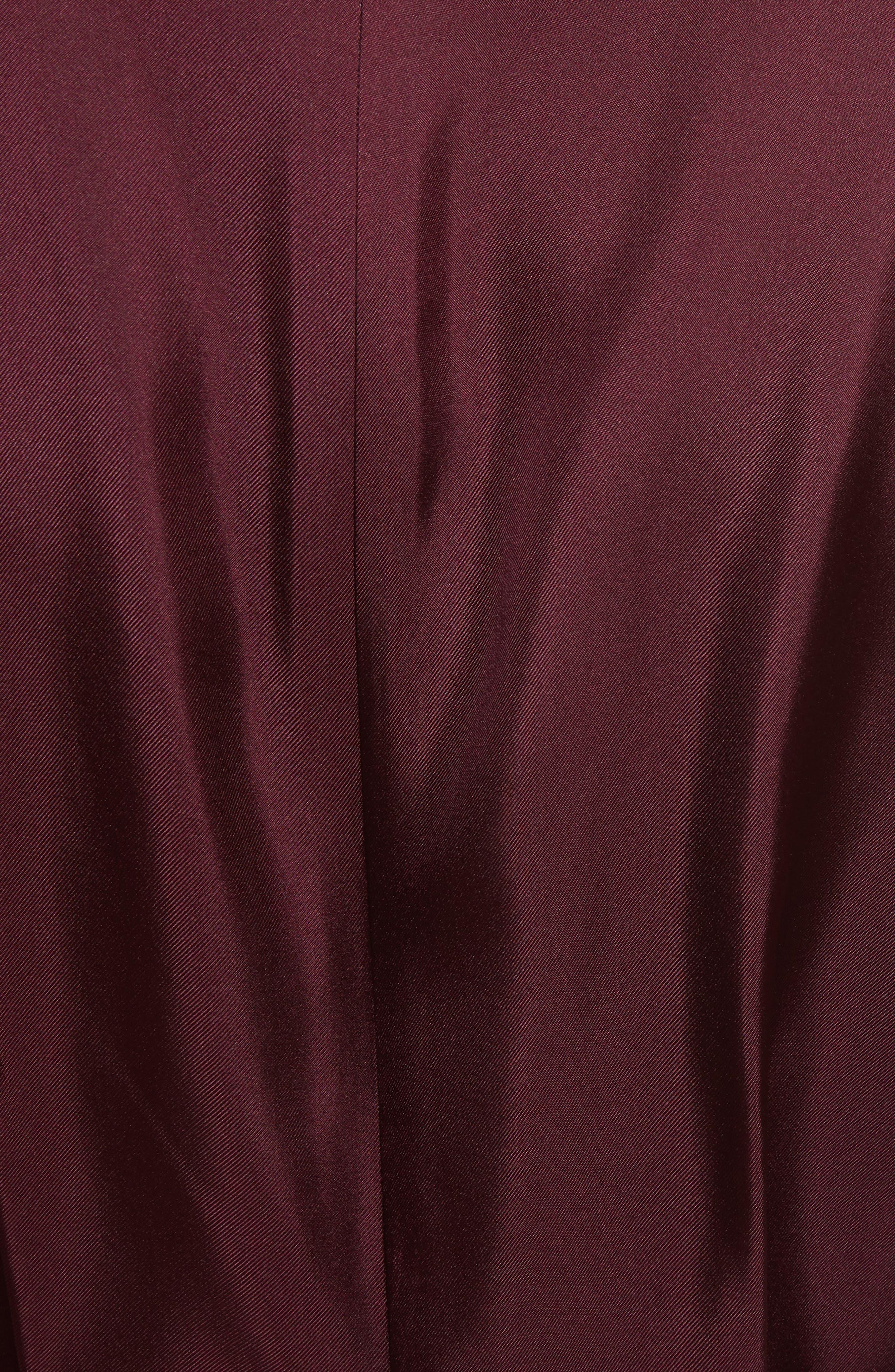Jensah Tie Neck Mixed Media Dress,                             Alternate thumbnail 5, color,                             Dark Blue