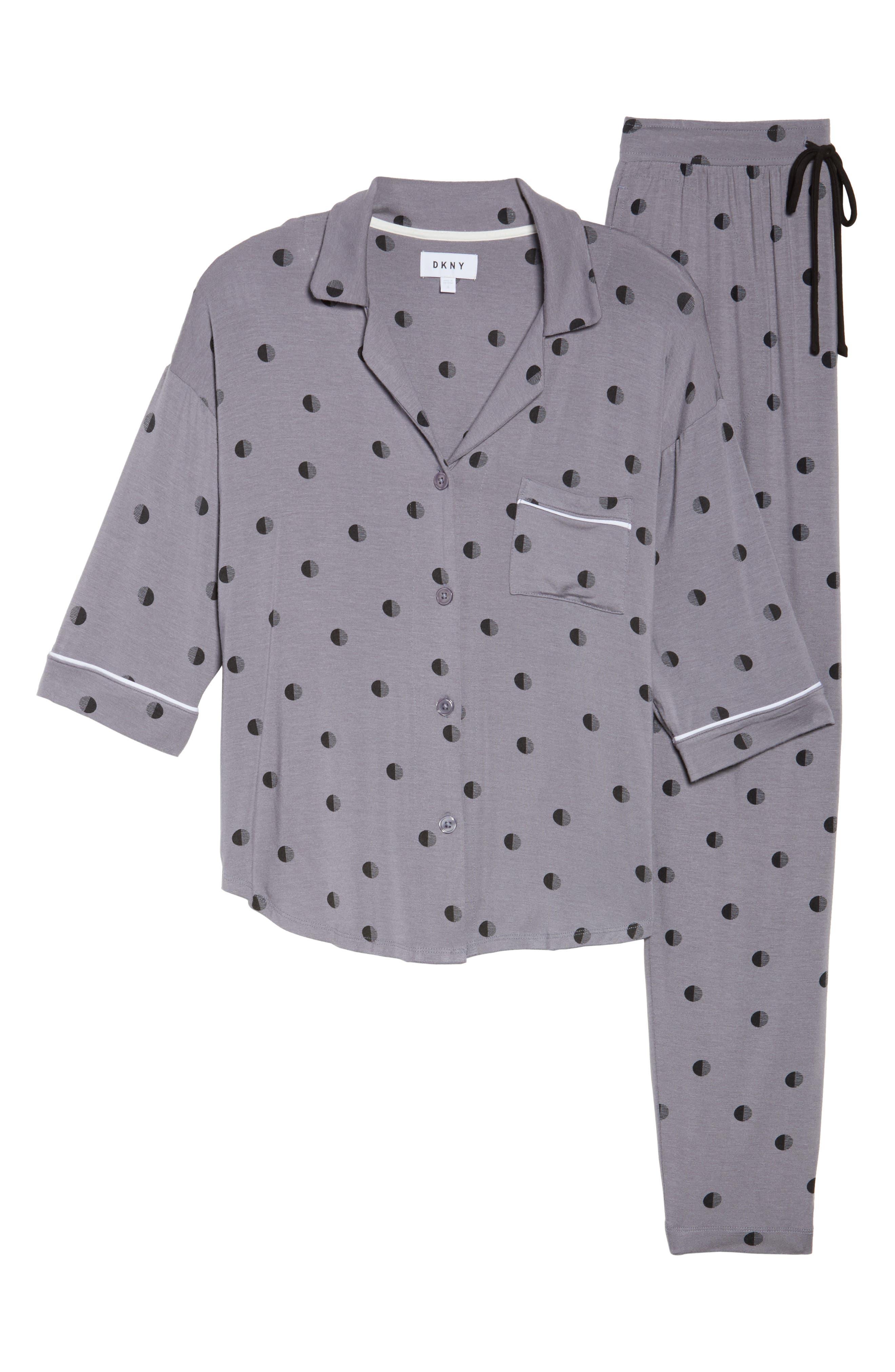 Alternate Image 6  - DKNY Jersey Pajamas