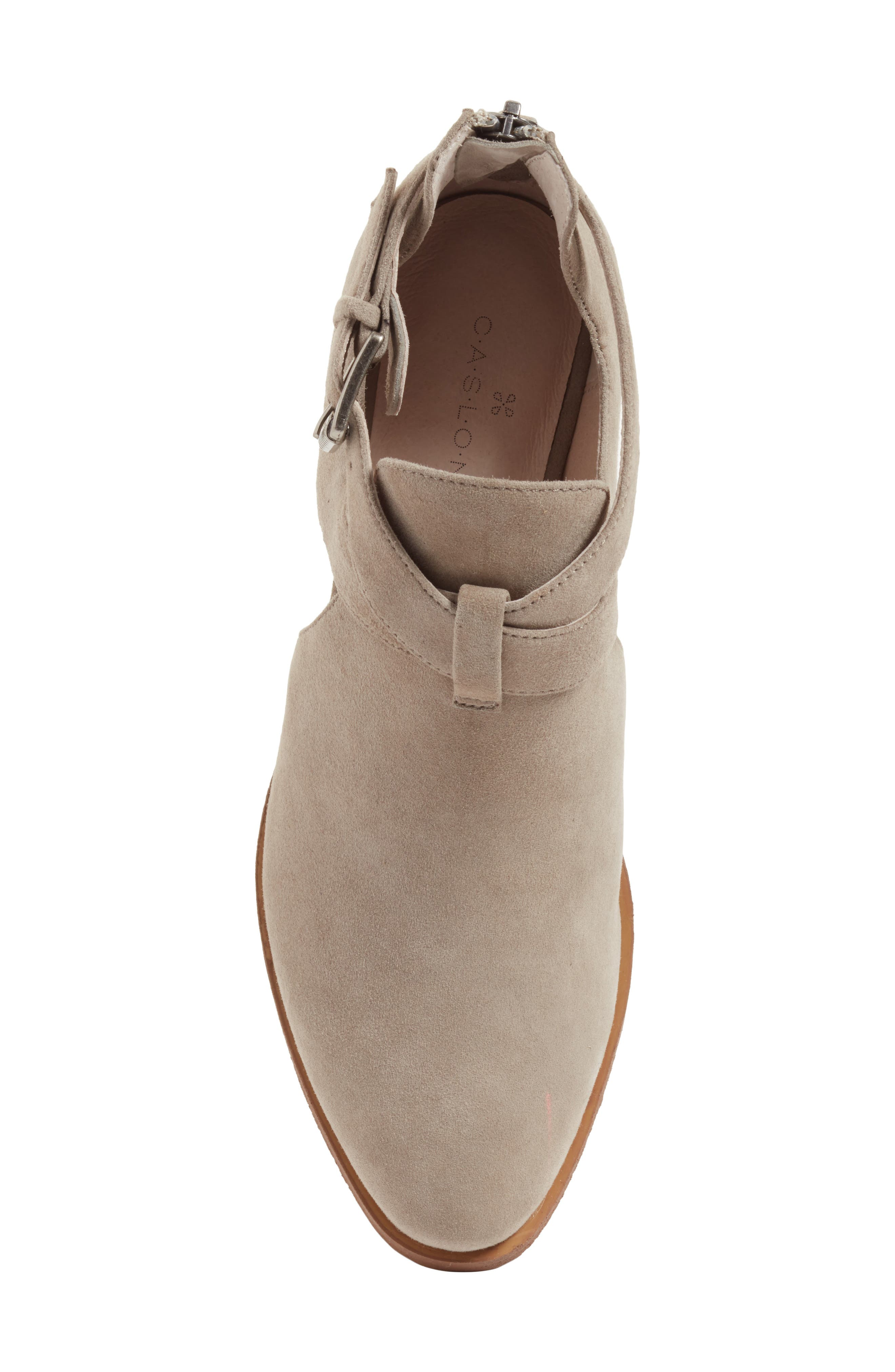 Tina Bootie,                             Alternate thumbnail 5, color,                             Stone Suede