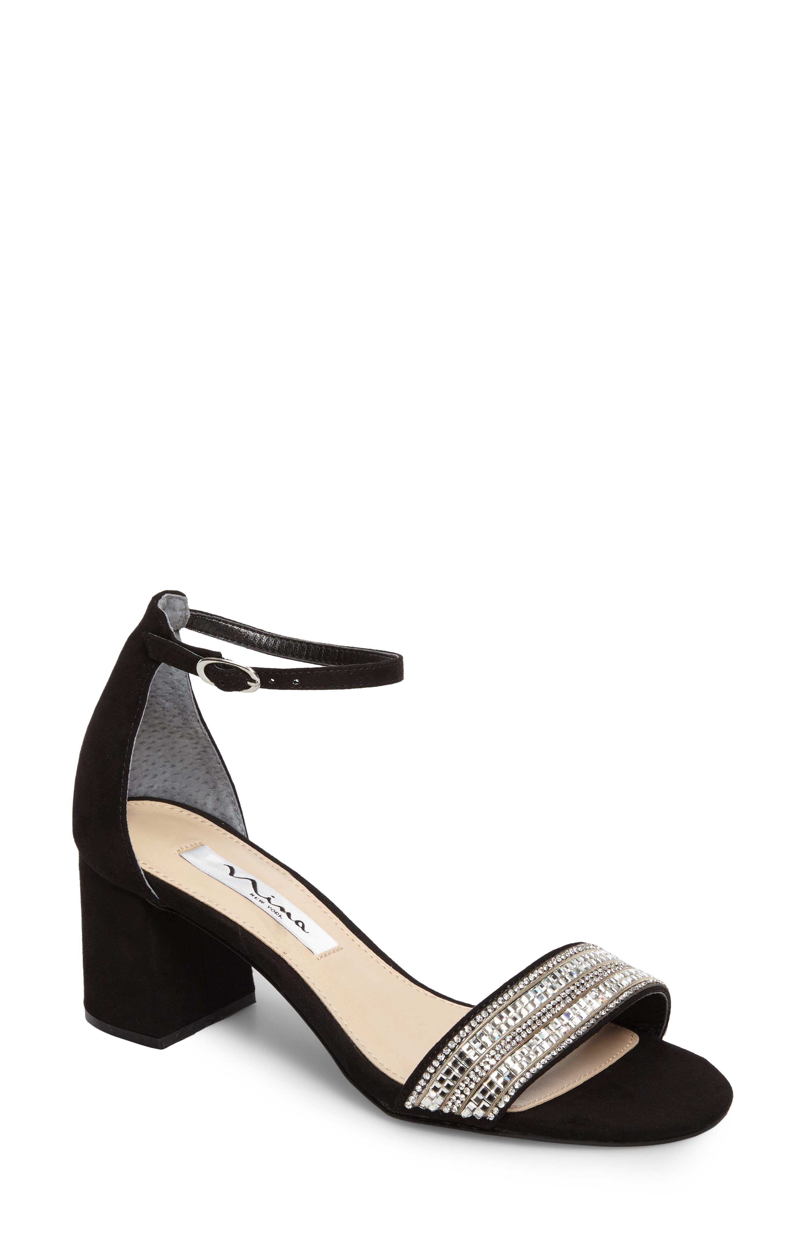 NINA Elenora Evening Block-Heel Sandals Women's Shoes bapa8tFP