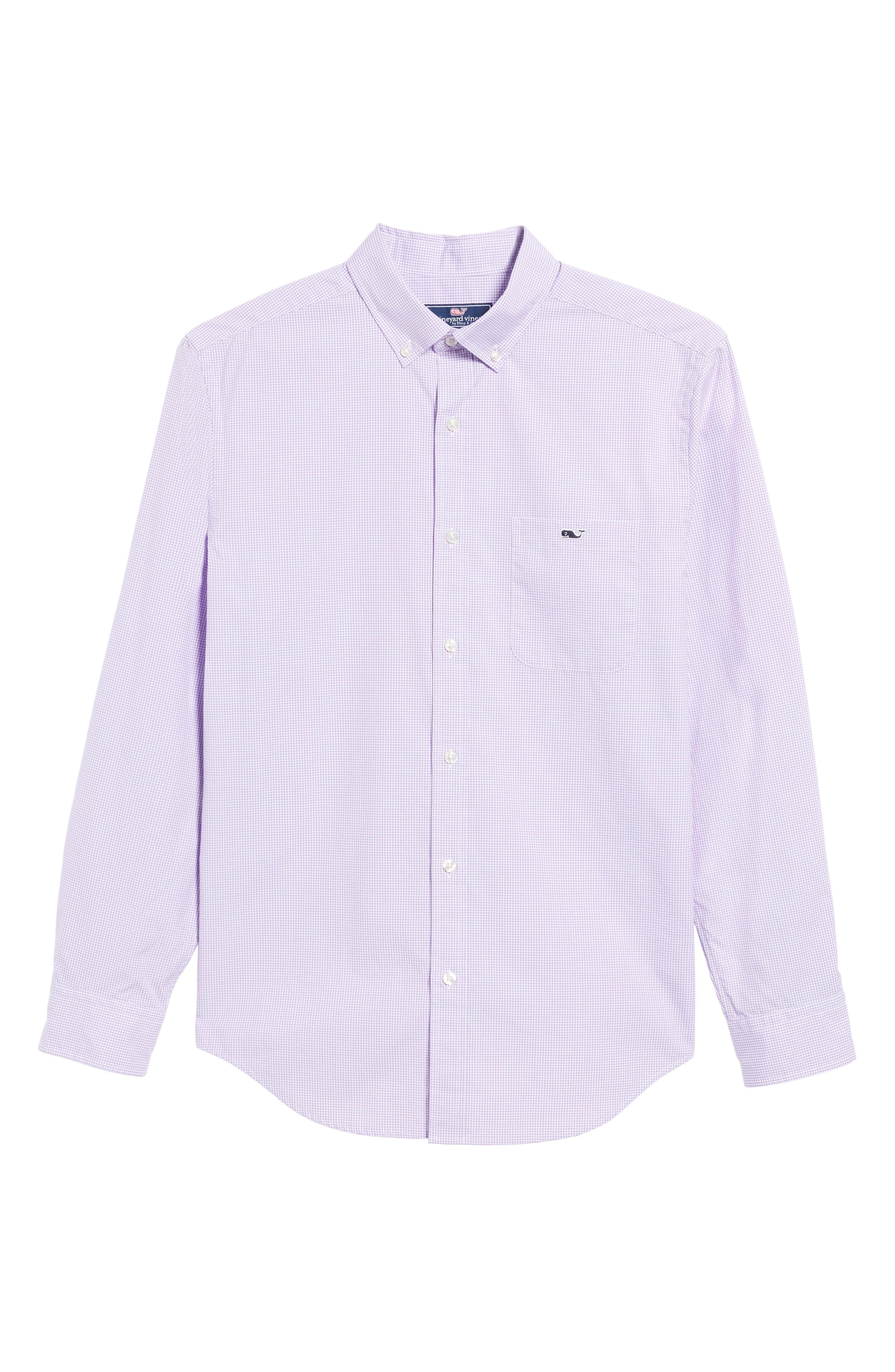 Seaboard Classic Fit Gingham Sport Shirt,                             Alternate thumbnail 6, color,                             Sea Urchin