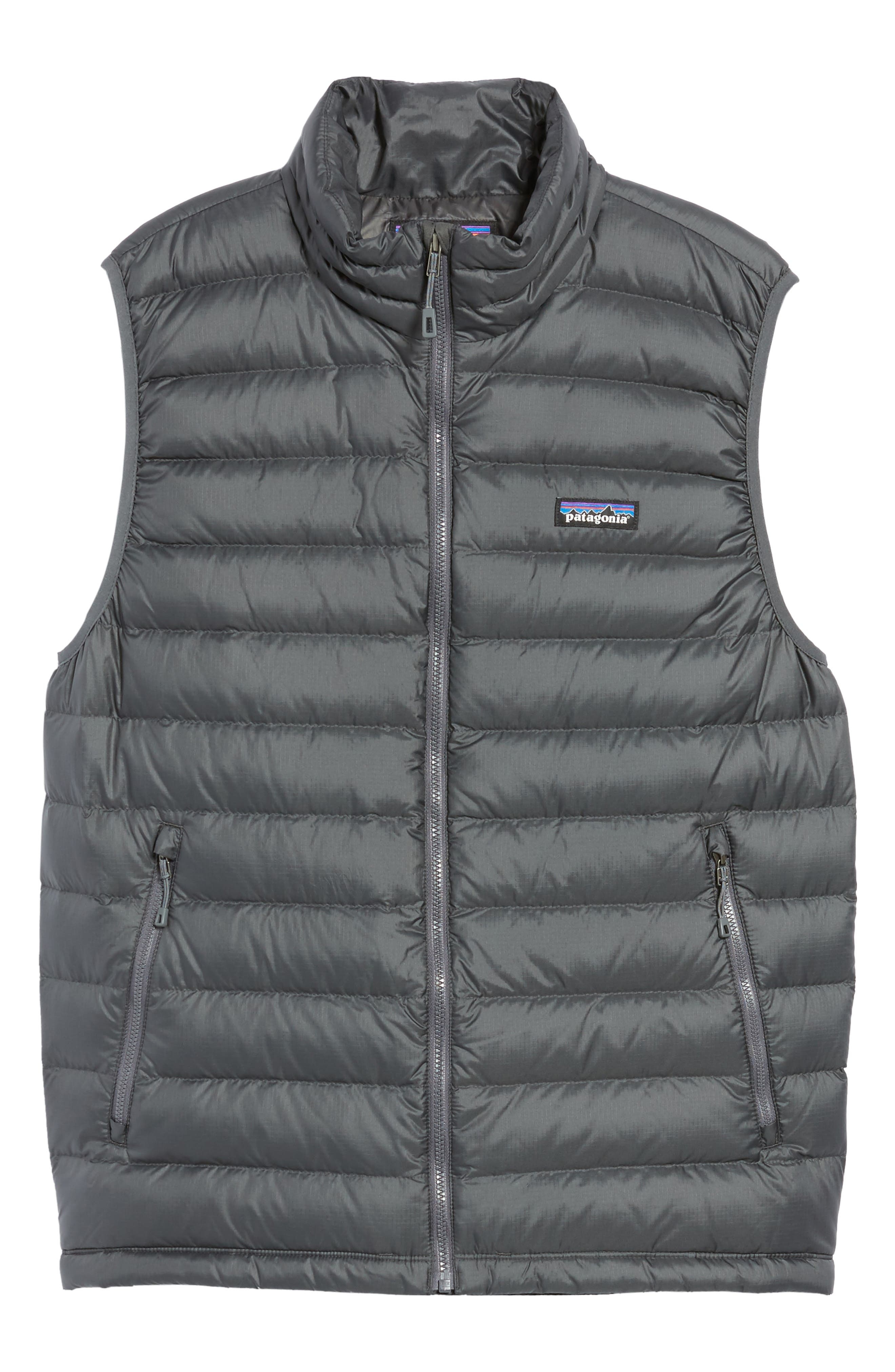 Windproof & Water Resistant 800 Fill Power Down Quilted Vest,                             Alternate thumbnail 6, color,                             Forge Grey W/ Forge Grey