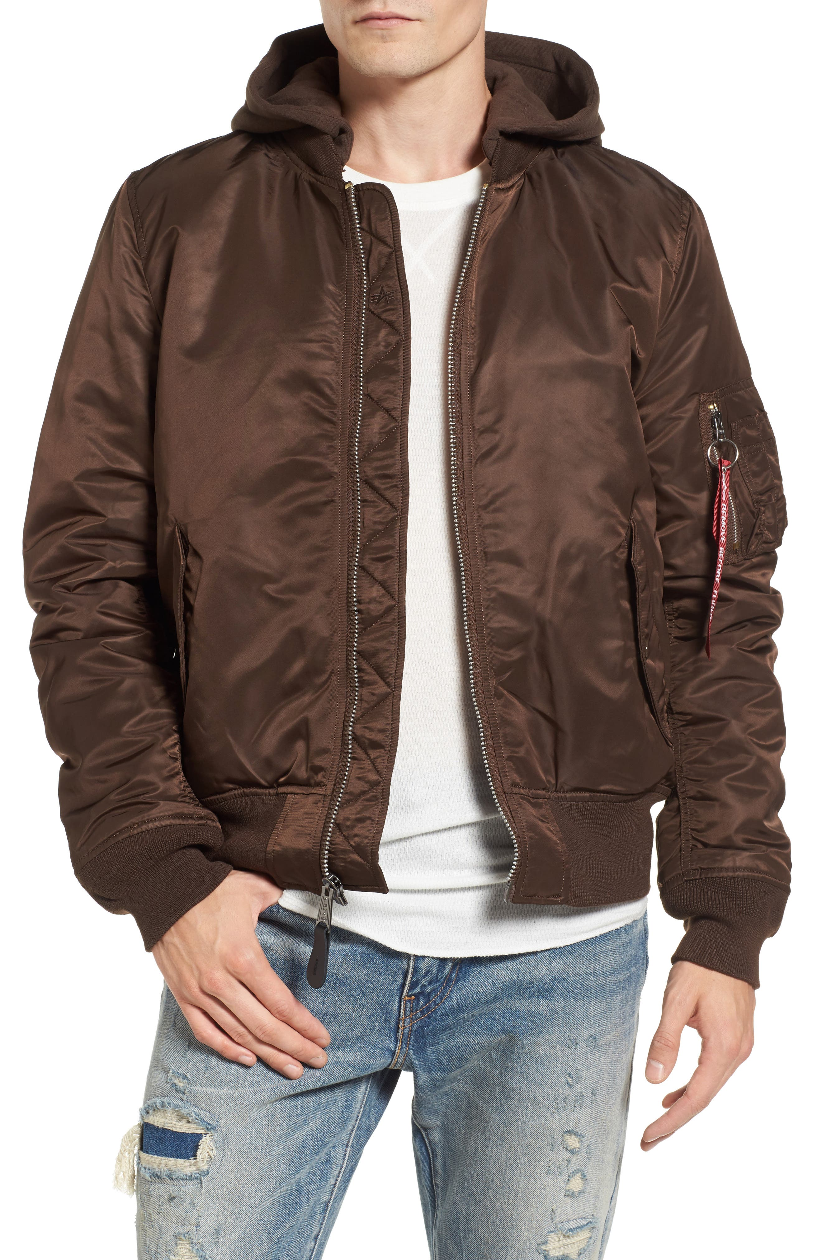 Alternate Image 1 Selected - Alpha Industries MA-1 Natus Hooded Bomber Jacket