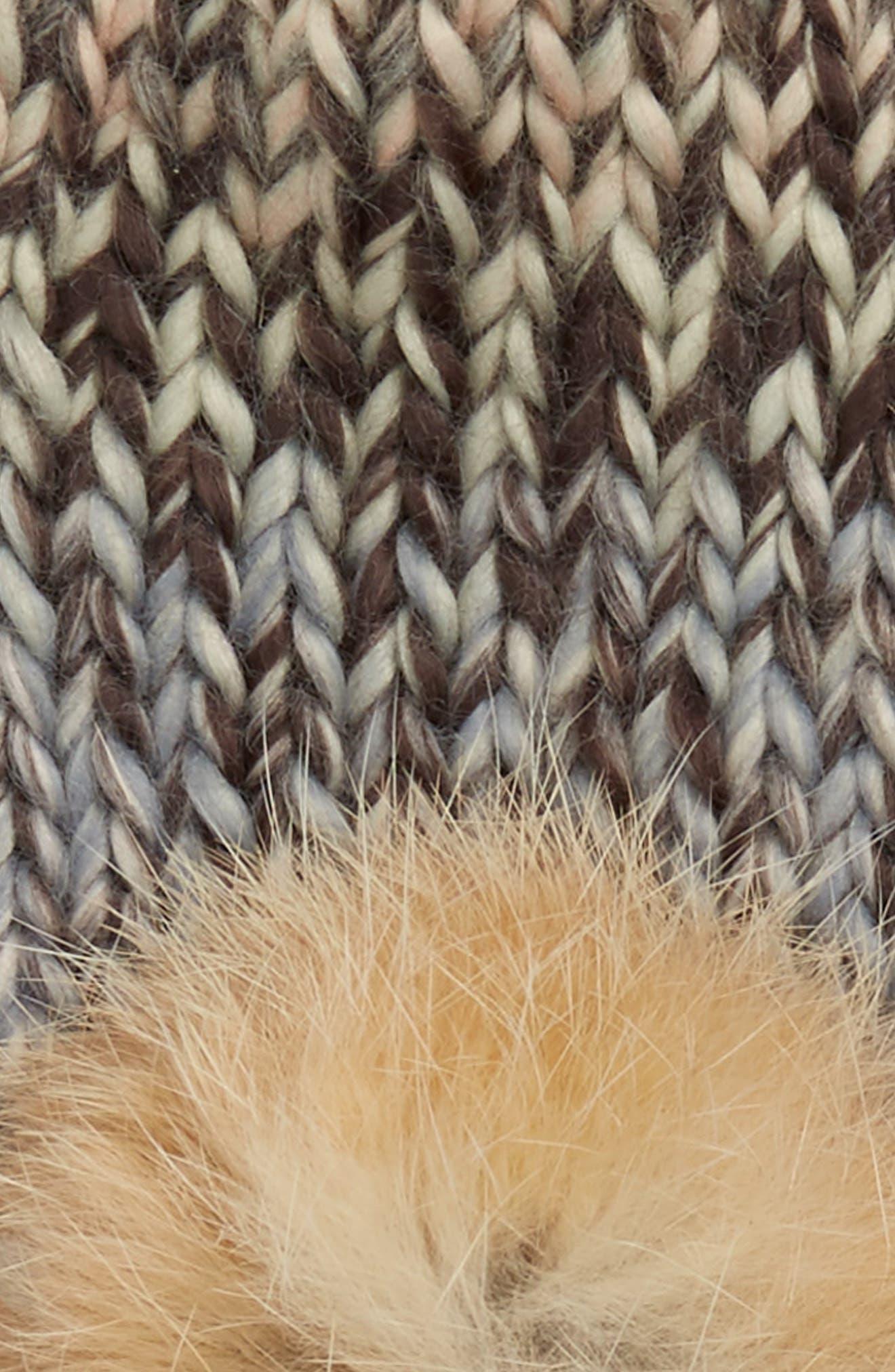 Mia Mittens with Genuine Rabbit Fur Pompoms,                             Alternate thumbnail 2, color,                             Multi
