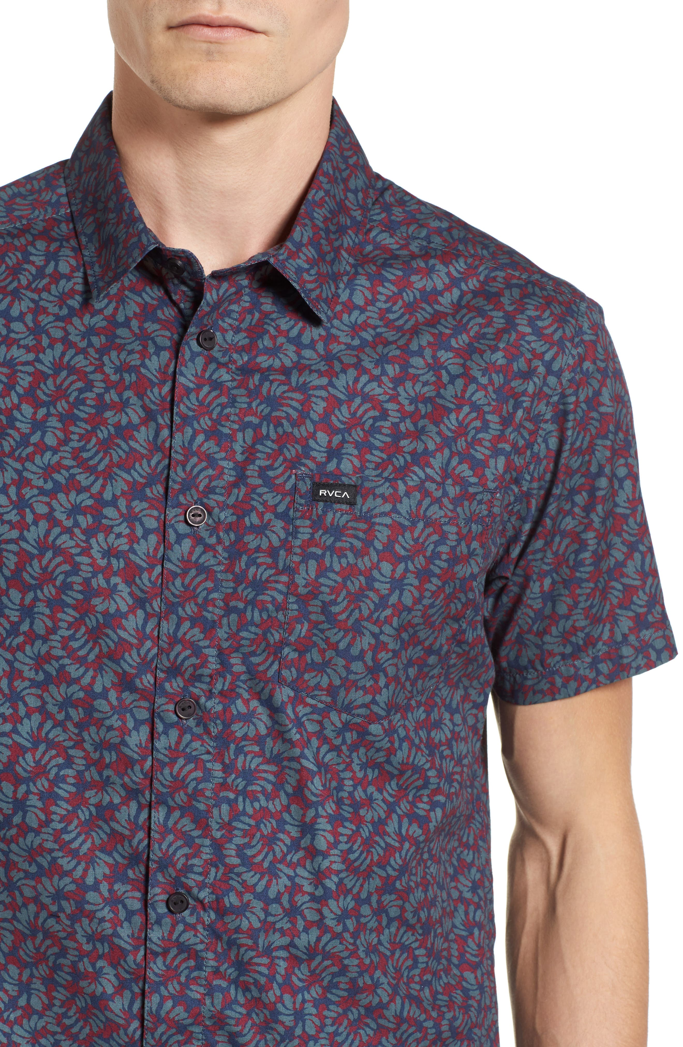 Alternate Image 4  - RVCA Brong Short Sleeve Shirt