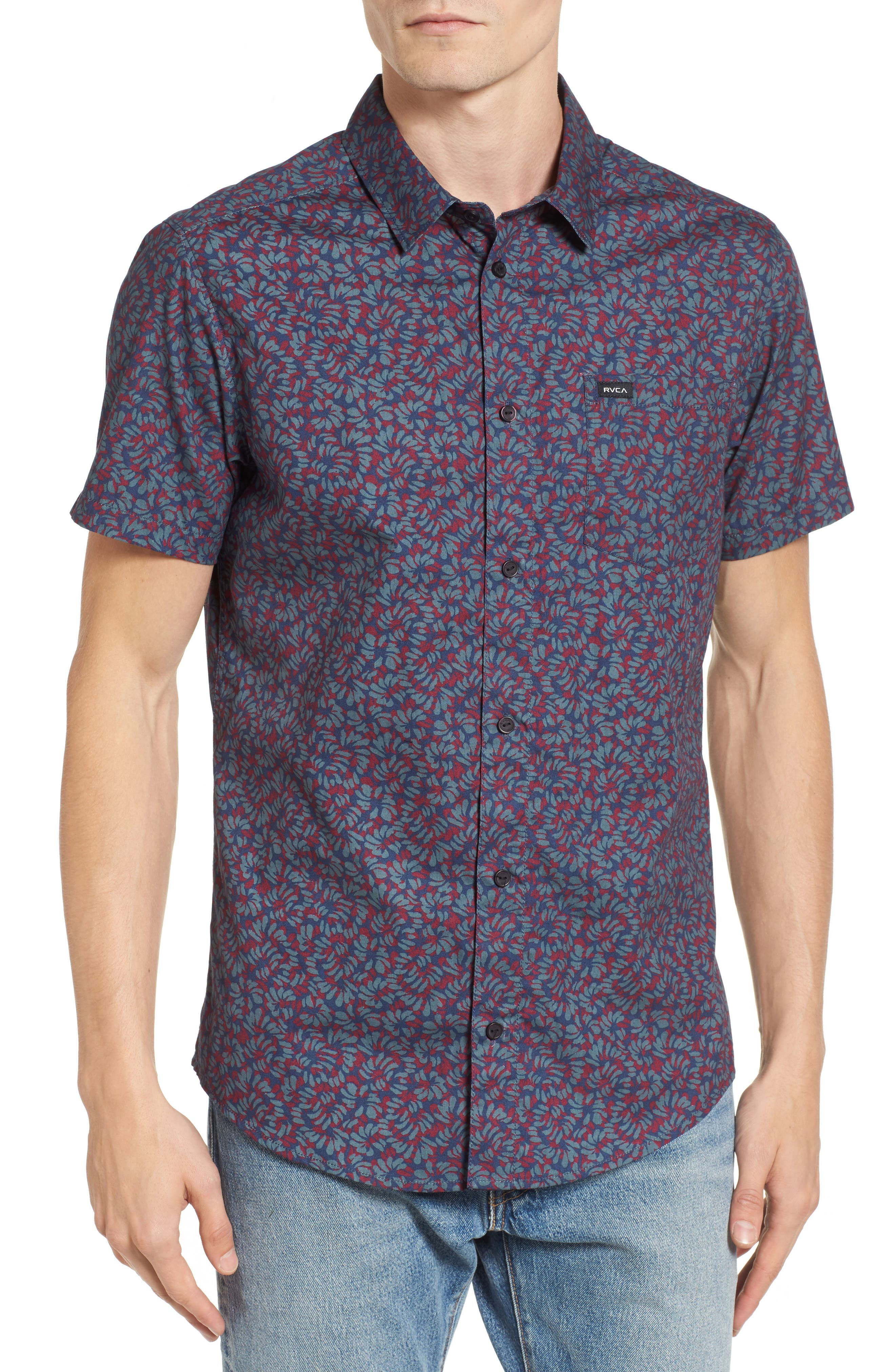Alternate Image 1 Selected - RVCA Brong Short Sleeve Shirt