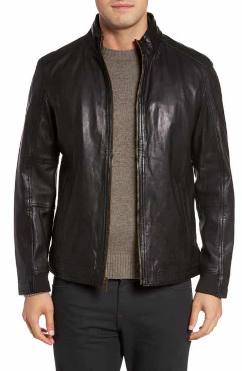 Men's Leather (Genuine) Coats: Sale | Nordstrom