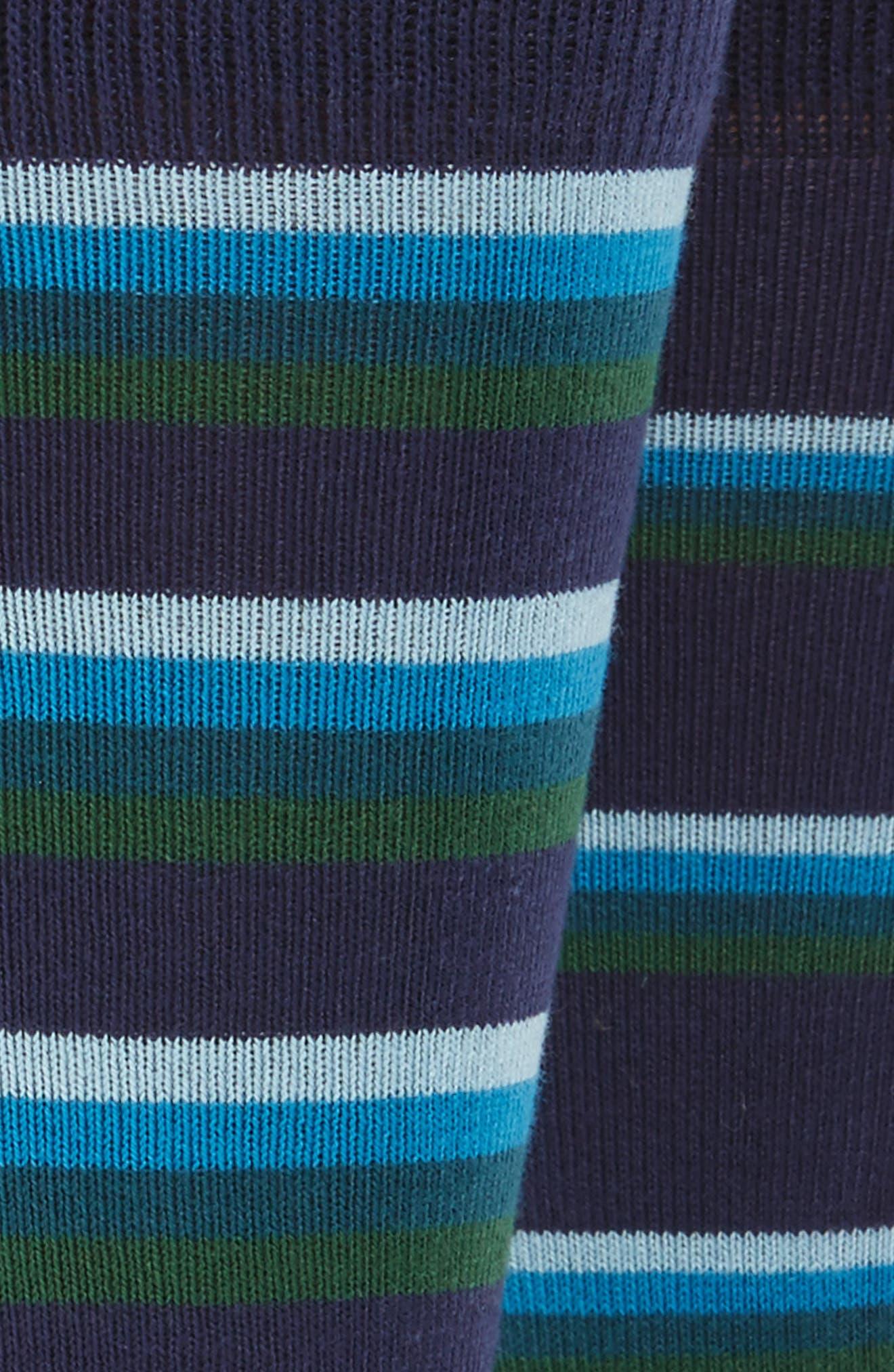 Stripe Socks,                             Alternate thumbnail 2, color,                             Blue/ Green