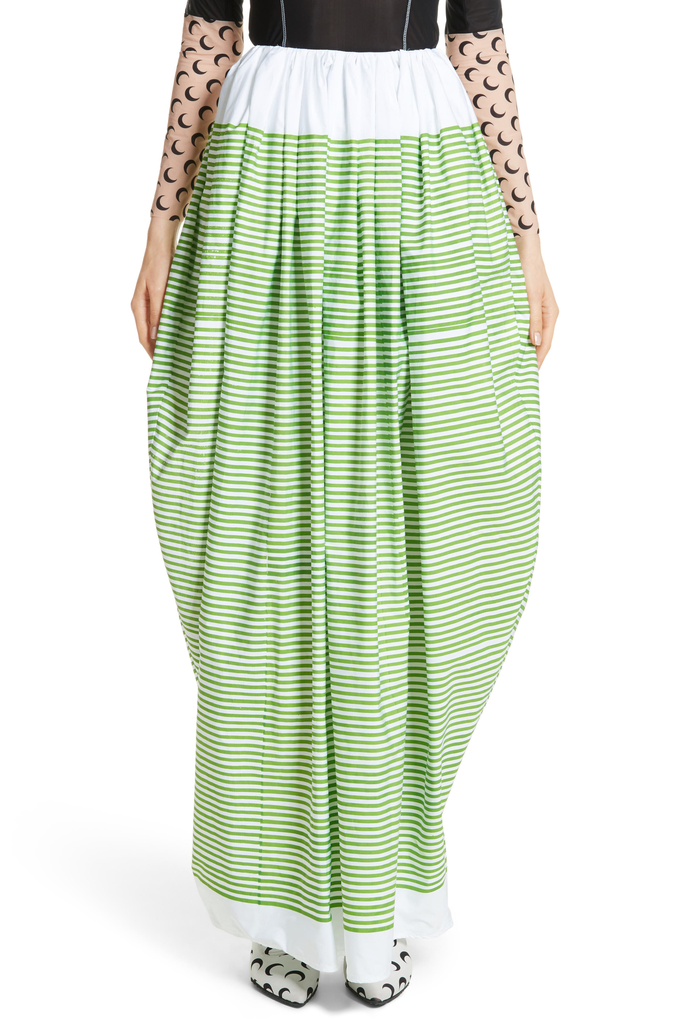 Stripe Ball Skirt,                             Main thumbnail 1, color,                             Green Striped