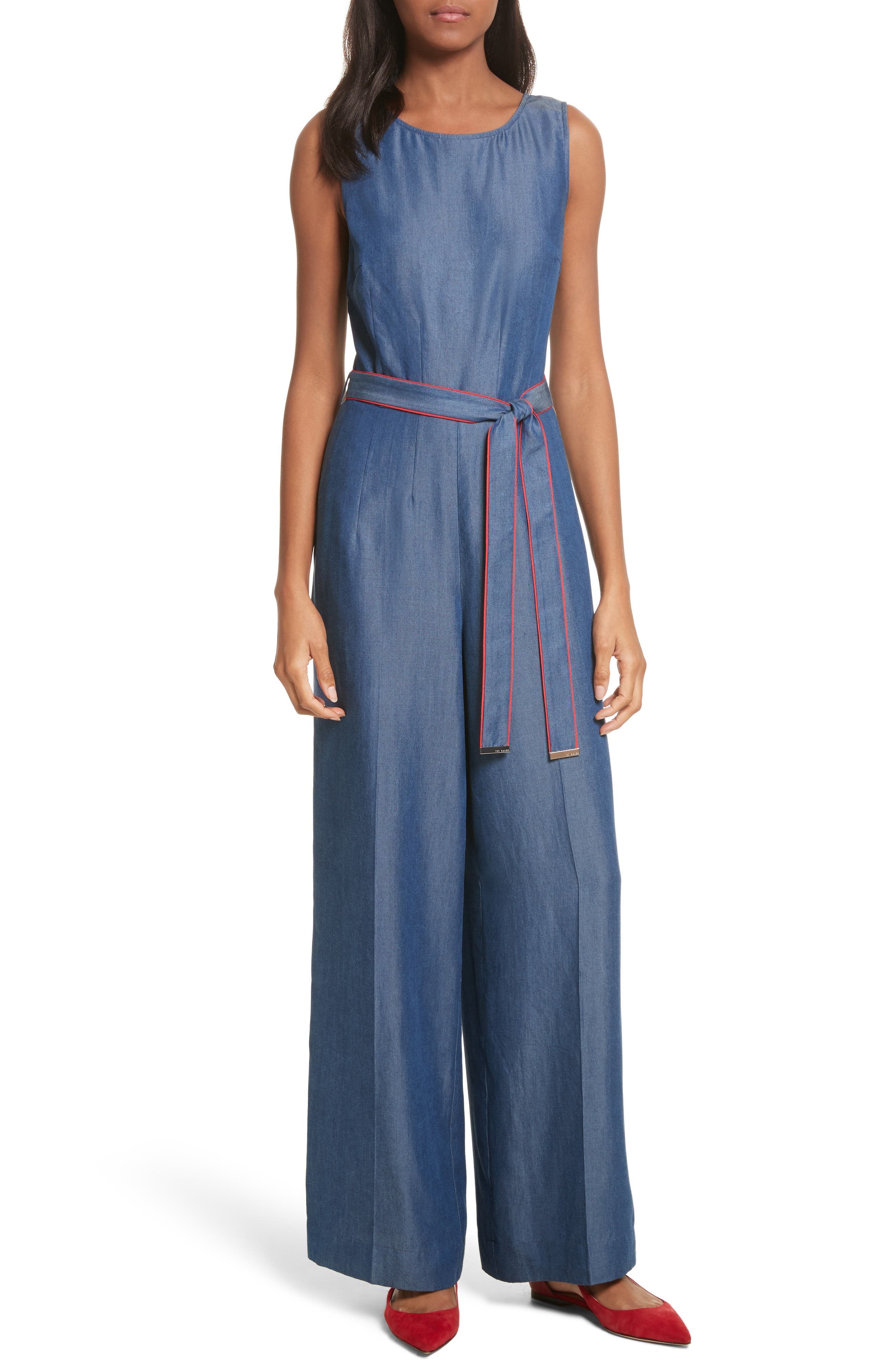 Ishbell Tencel<sup>®</sup> Jumpsuit,                         Main,                         color, Mid Wash
