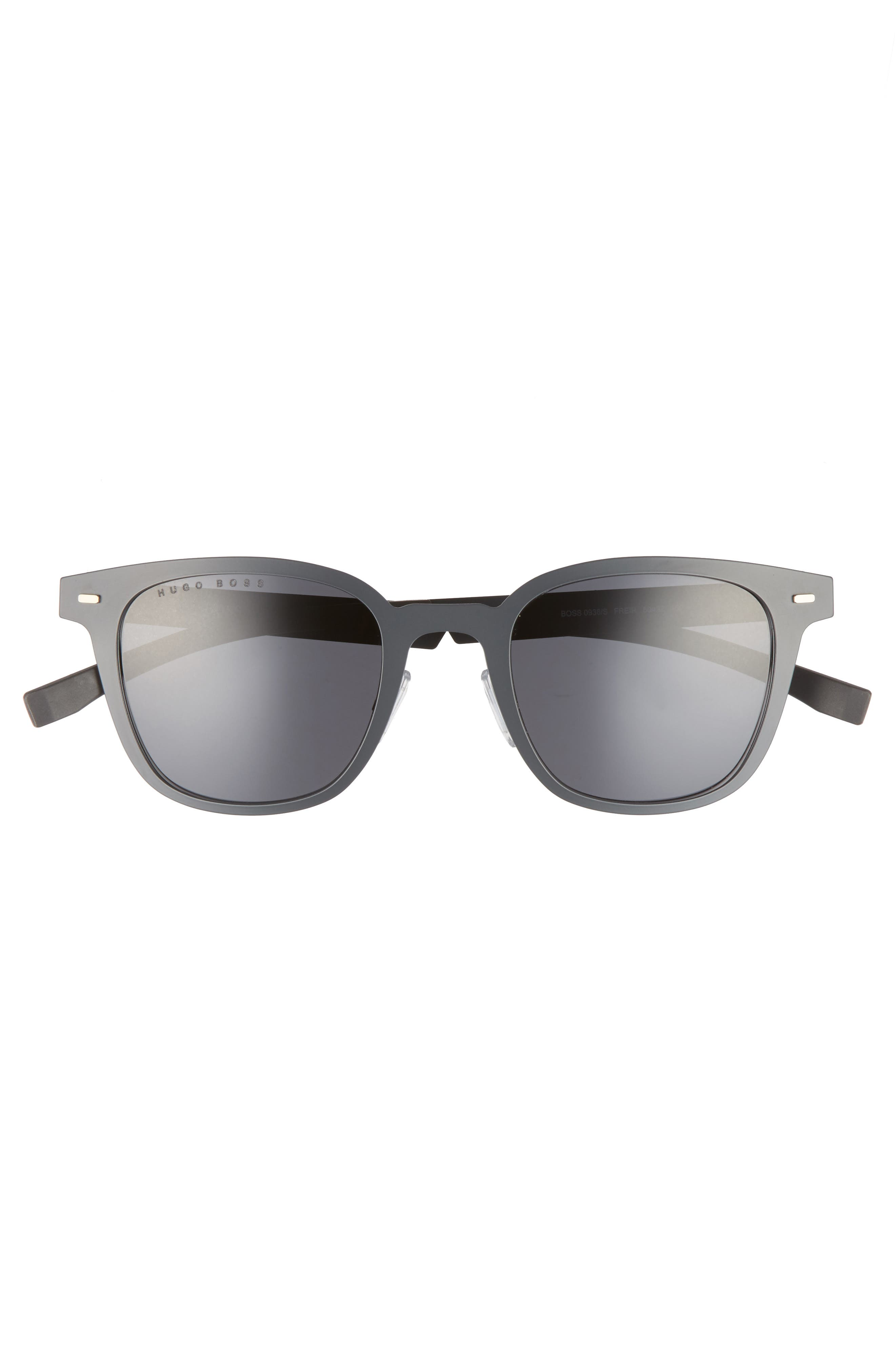 50mm Sunglasses,                             Alternate thumbnail 2, color,                             Matte Gray/ Gray Blue